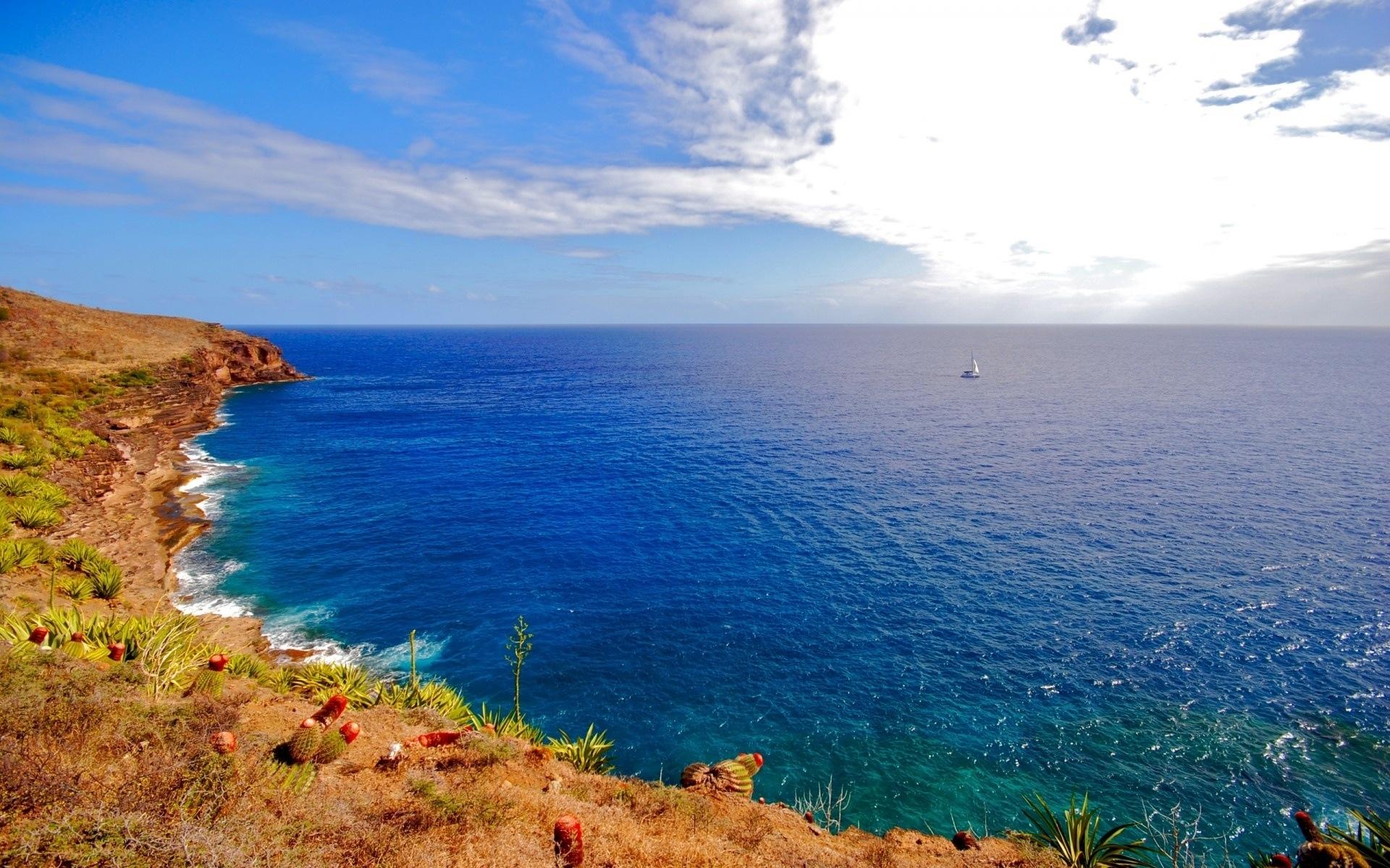 25119 скачать обои Пейзаж, Небо, Море, Волны - заставки и картинки бесплатно