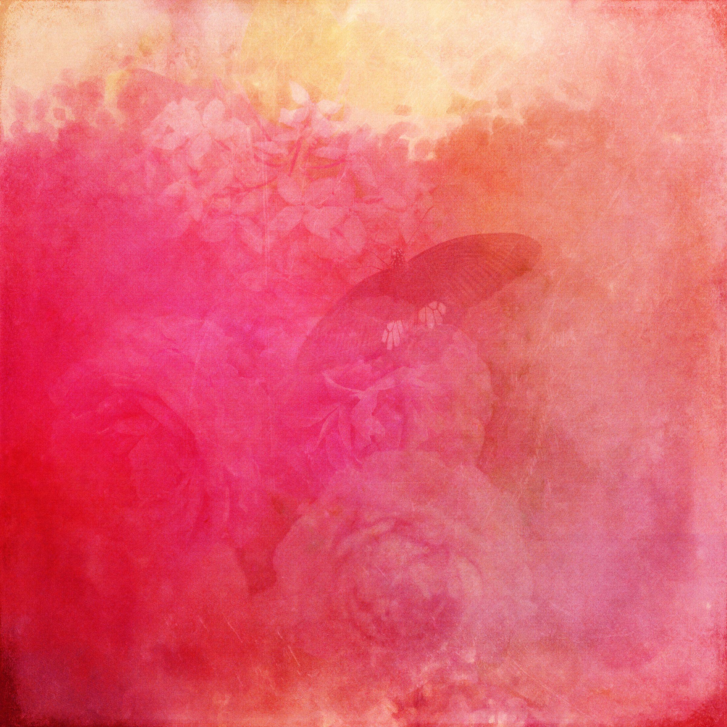 108777 Hintergrundbild herunterladen Papier, Rosa, Blume, Textur, Texturen, Schmetterling - Bildschirmschoner und Bilder kostenlos