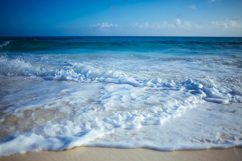 128420 Заставки и Обои Волны на телефон. Скачать Природа, Берег, Песок, Прибой, Волны картинки бесплатно