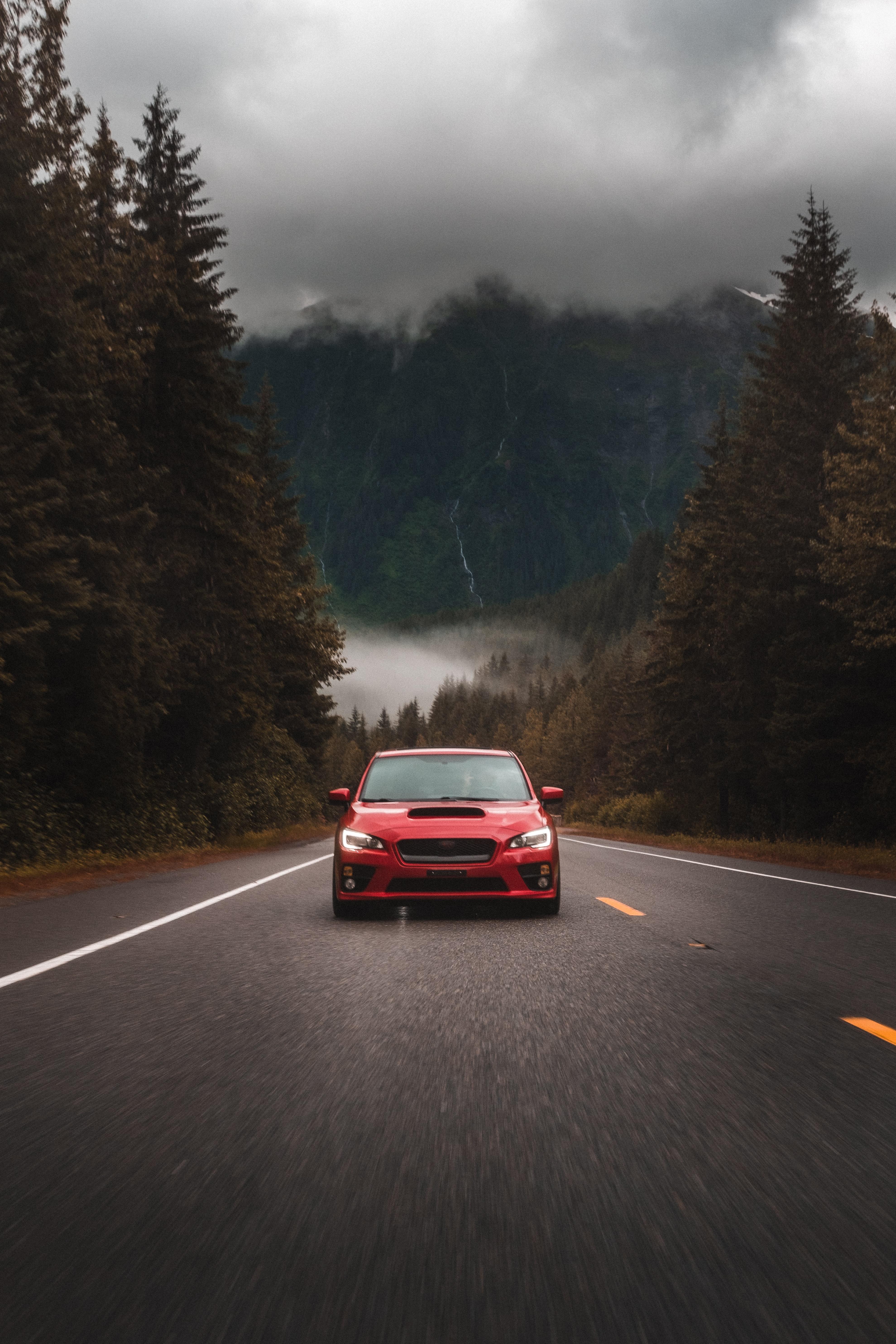 104623 Screensavers and Wallpapers Subaru for phone. Download Subaru, Cars, Road, Car, Asphalt, Front View, Subaru Sti pictures for free