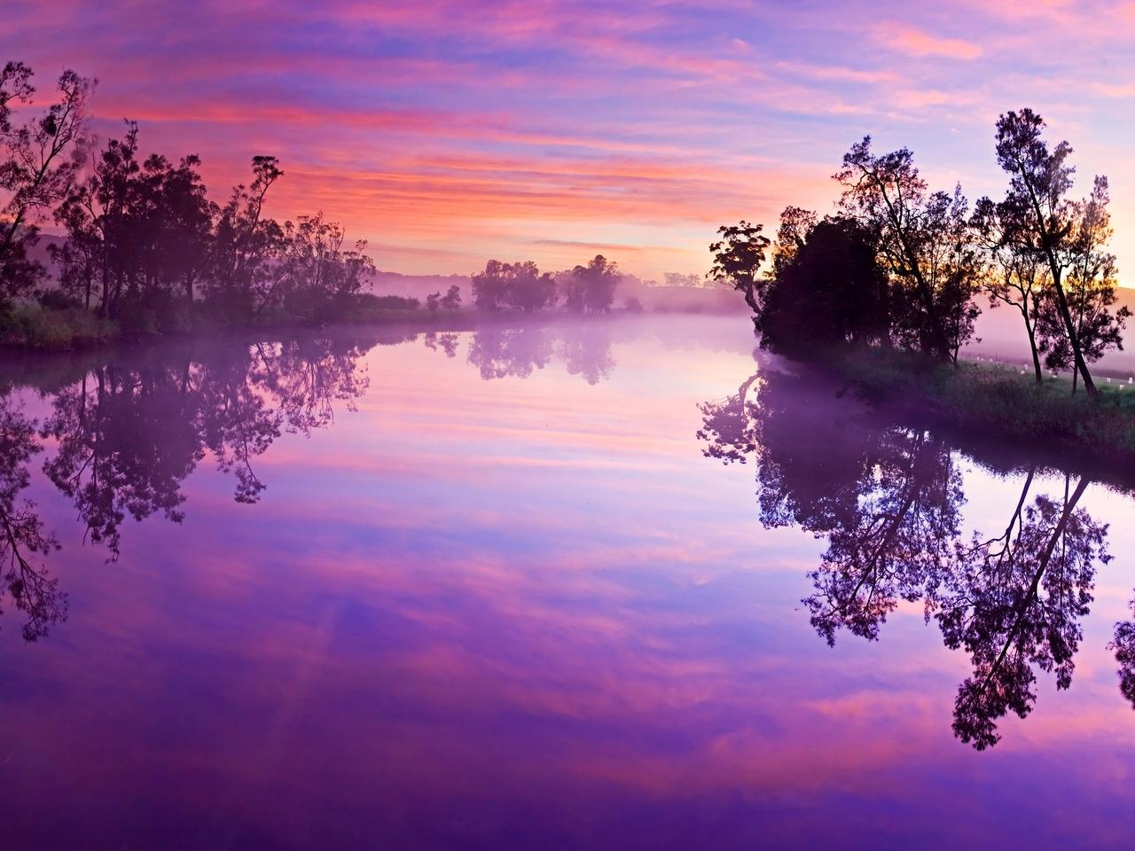 24170 скачать обои Пейзаж, Река, Закат, Небо, Облака - заставки и картинки бесплатно