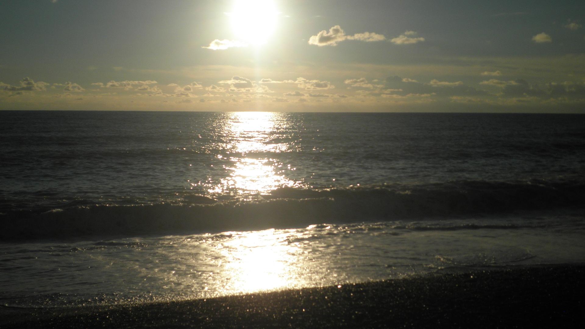 17307 скачать обои Пейзаж, Закат, Море, Пляж - заставки и картинки бесплатно