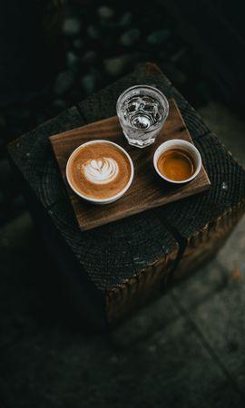 134058 baixar papel de parede Comida, Café, Água, Bebidas, Cups - protetores de tela e imagens gratuitamente