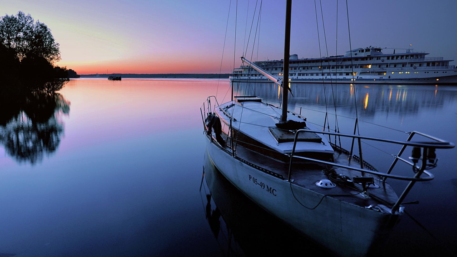 Скачать картинку Море, Яхты, Транспорт, Пейзаж в телефон бесплатно.