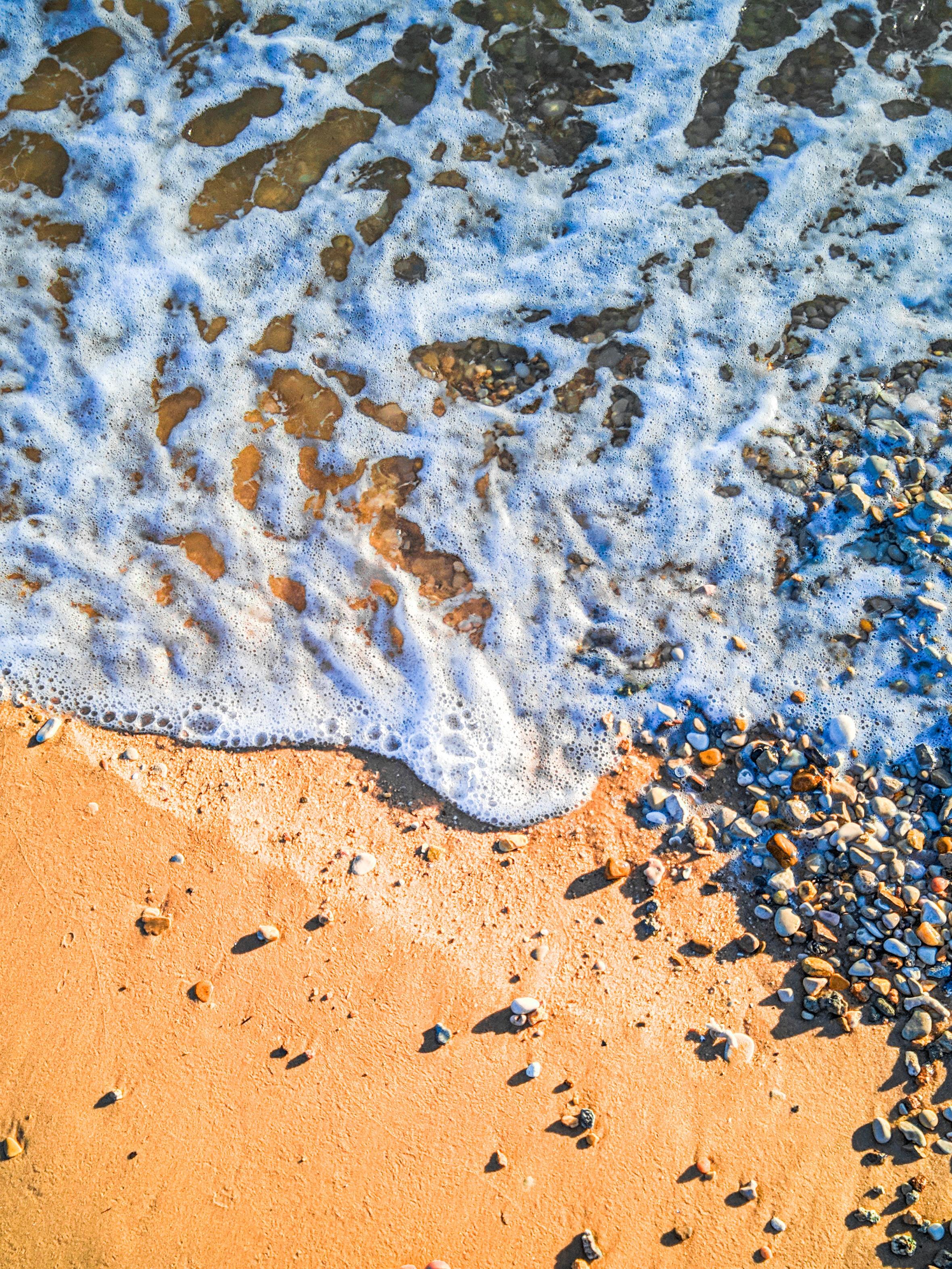 133192壁紙のダウンロード自然, ビーチ, 波, 小石, サンド, 海-スクリーンセーバーと写真を無料で