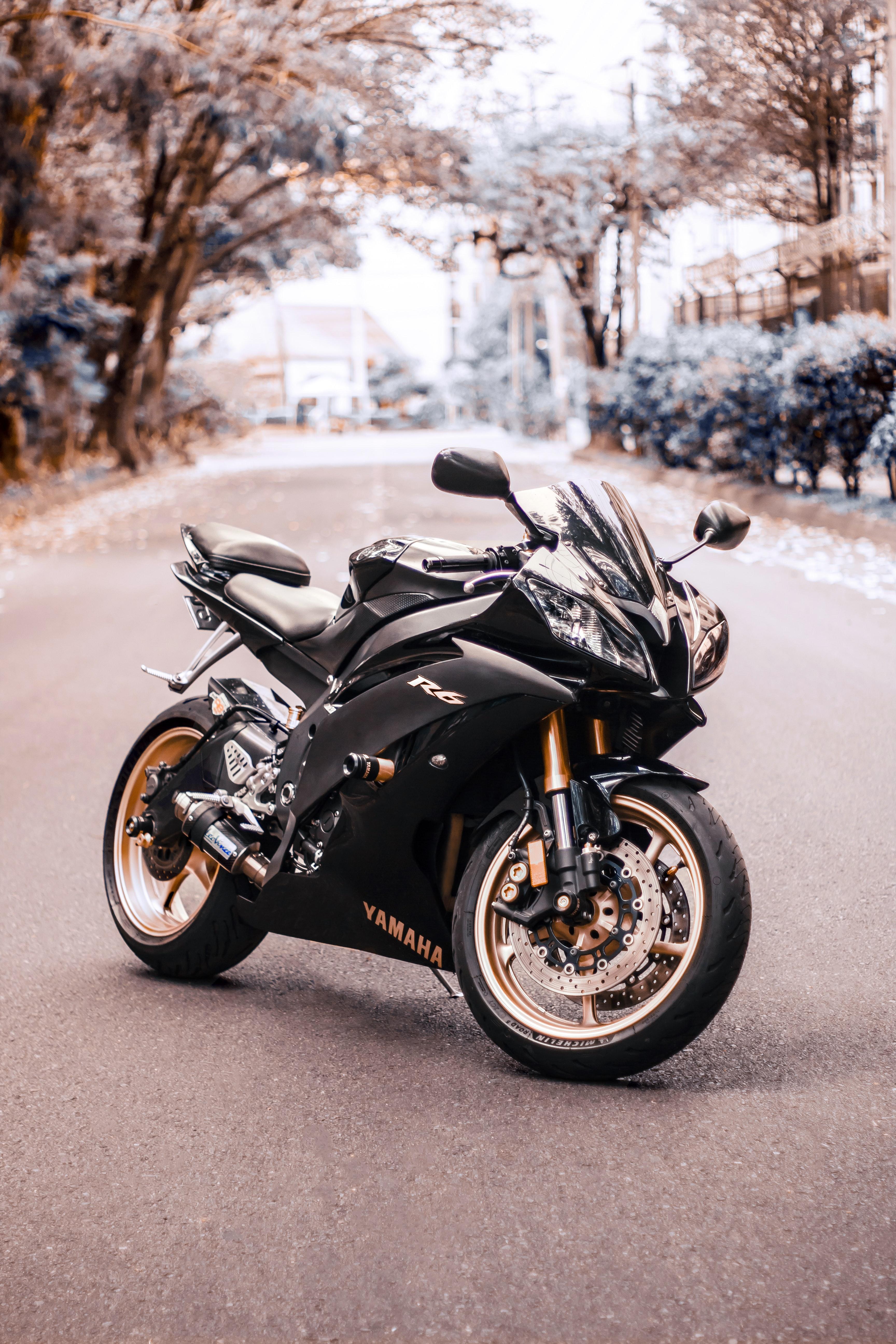 83927 Lade kostenlos Schwarz Hintergrundbilder für dein Handy herunter, Yamaha, Motorräder, Das Schwarze, Seitenansicht, Motorrad, Fahrrad, Yamaha R6 Schwarz Bilder und Bildschirmschoner für dein Handy