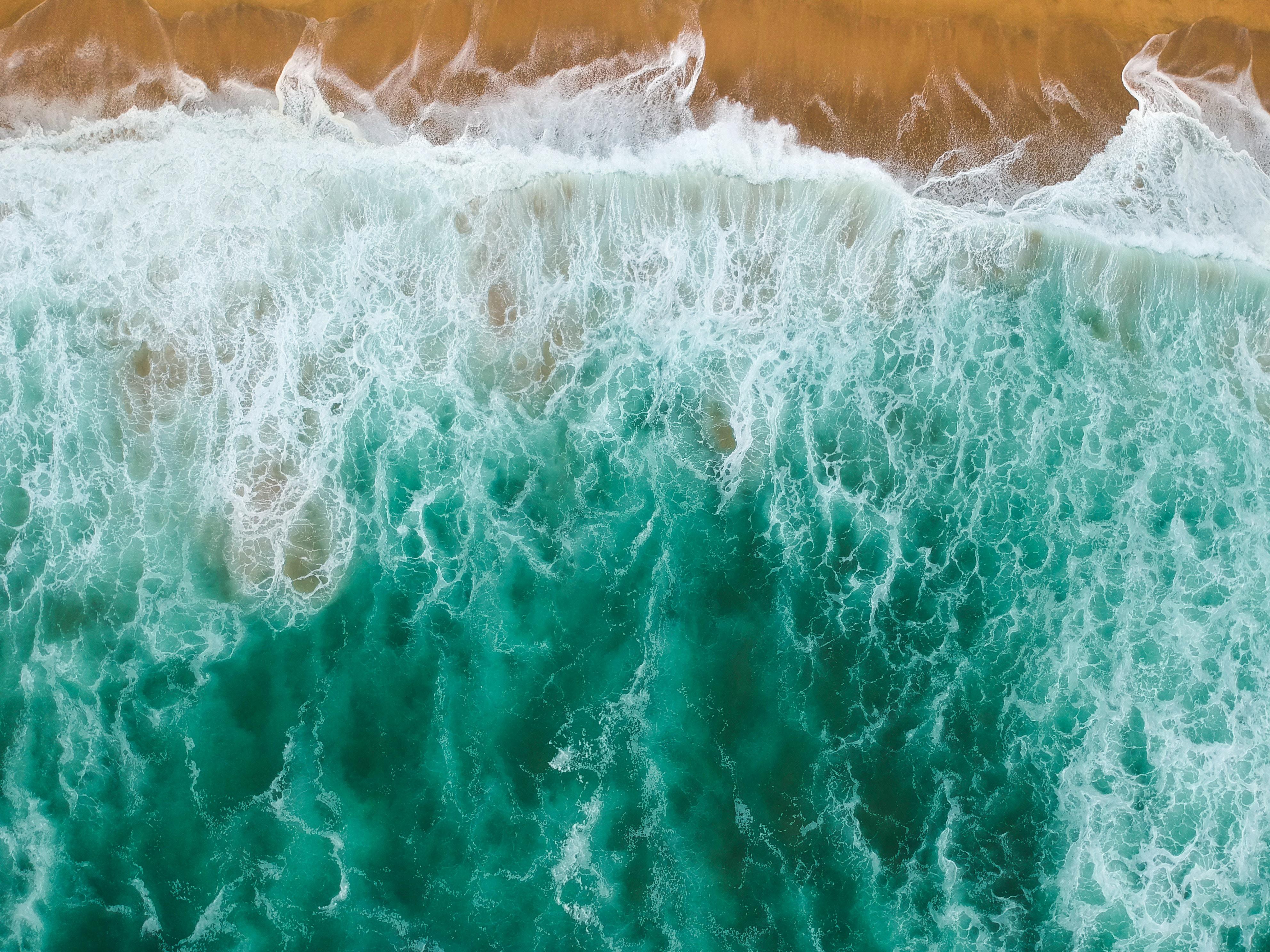71921 Заставки и Обои Пляж на телефон. Скачать Природа, Море, Пляж, Вид Сверху, Вода, Волны картинки бесплатно