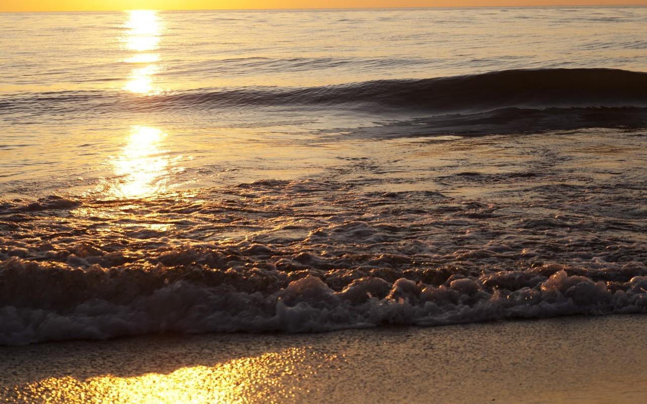 18148 скачать обои Пейзаж, Закат, Море, Волны - заставки и картинки бесплатно