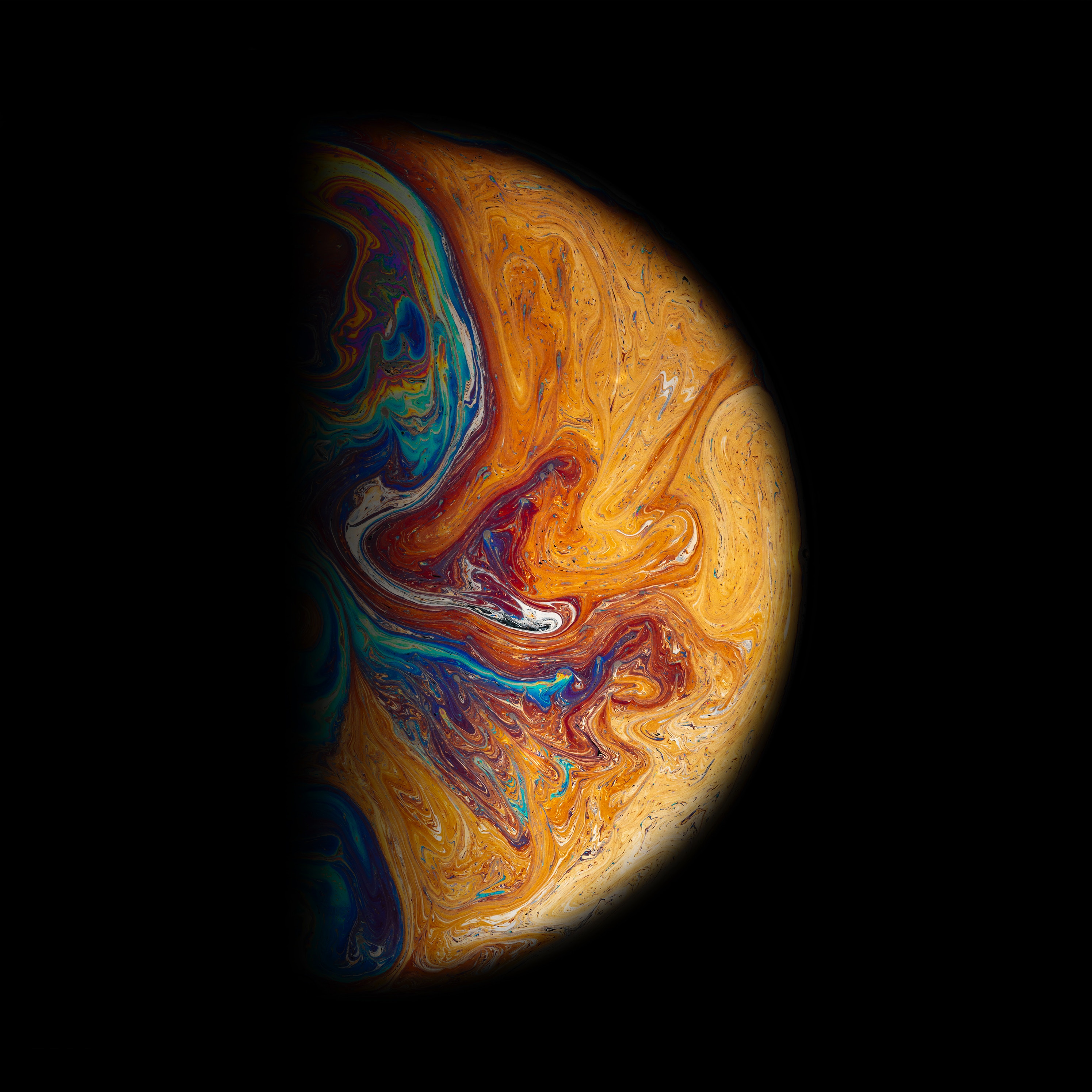 67190 download wallpaper Abstract, Ball, Planet, Multicolored, Motley, Paint, Stains, Spots screensavers and pictures for free