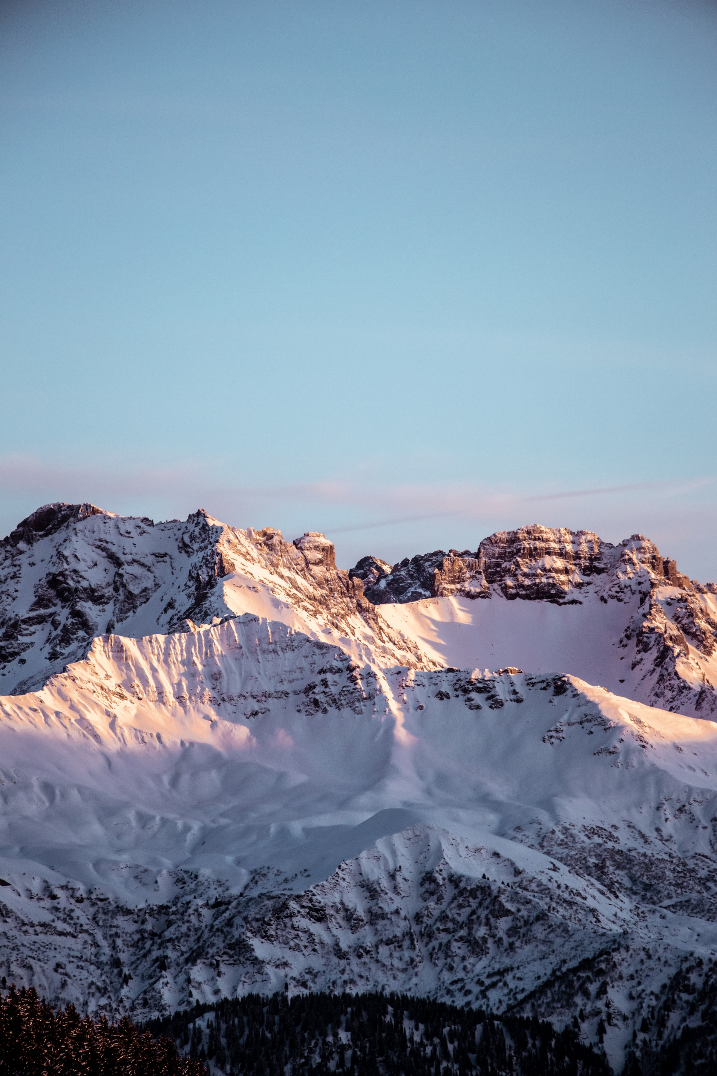 99846 download wallpaper Nature, Rocks, Snow, Snow Covered, Snowbound, Sky, Mountains screensavers and pictures for free