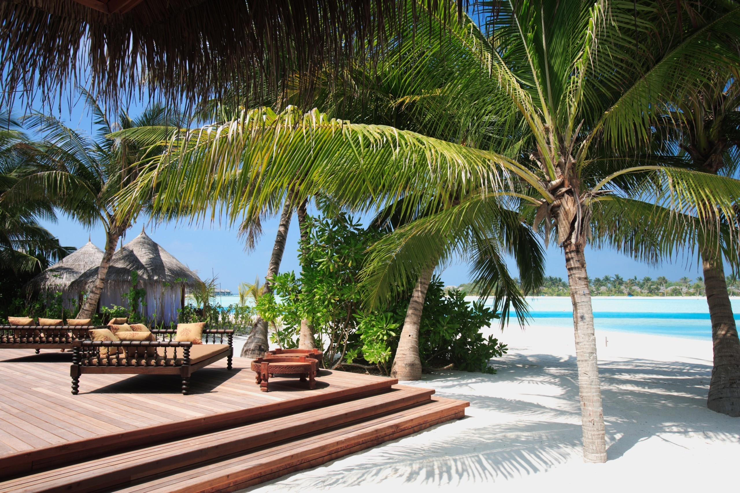 54570 Hintergrundbild 540x960 kostenlos auf deinem Handy, lade Bilder Natur, Strand, Sand, Palme, Palm, Tropen, Schritte, Sofas 540x960 auf dein Handy herunter