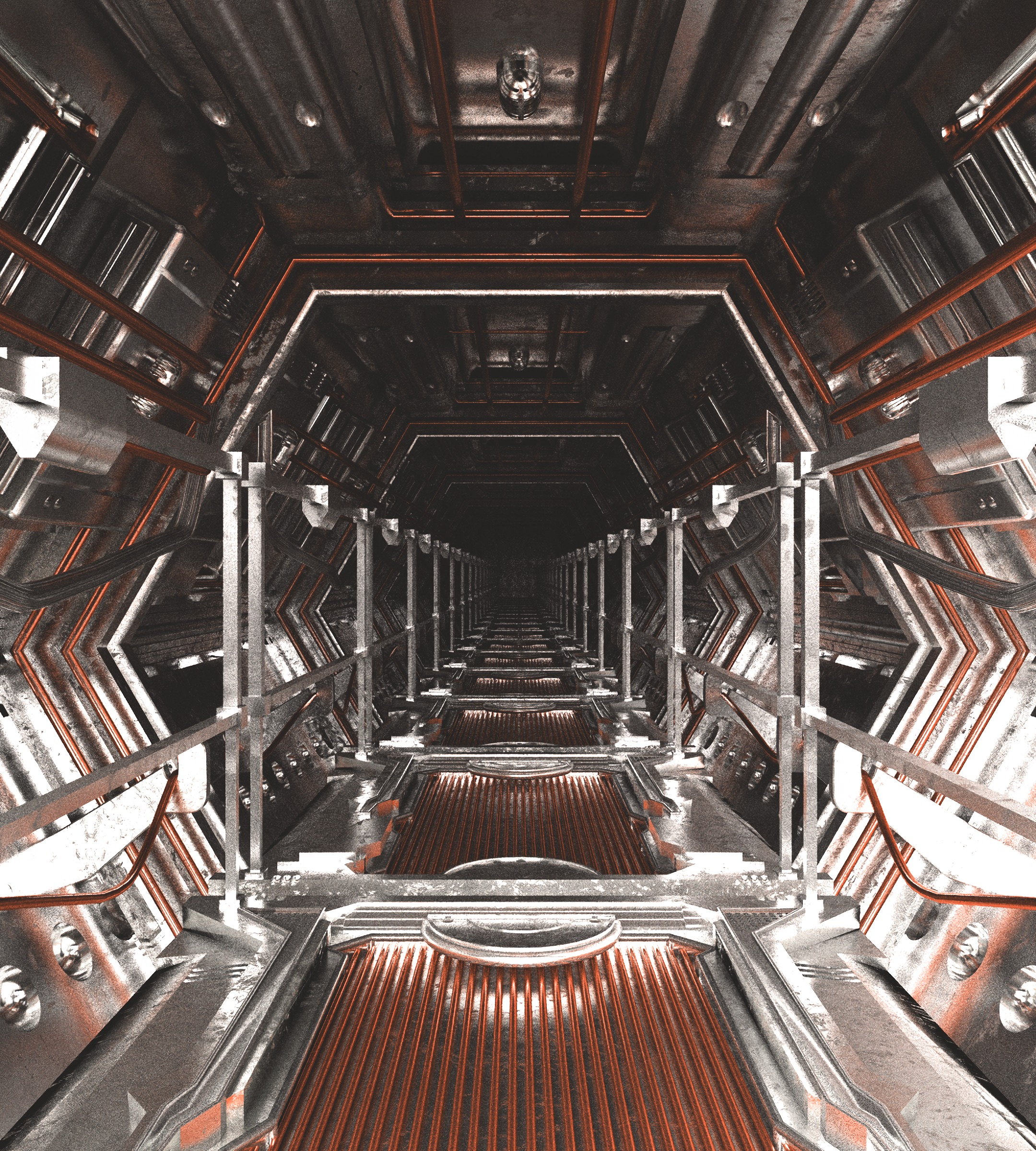 65036 Screensavers and Wallpapers Sci-Fi for phone. Download Art, Corridor, Sci-Fi, Perspective, Prospect, Tunnel pictures for free