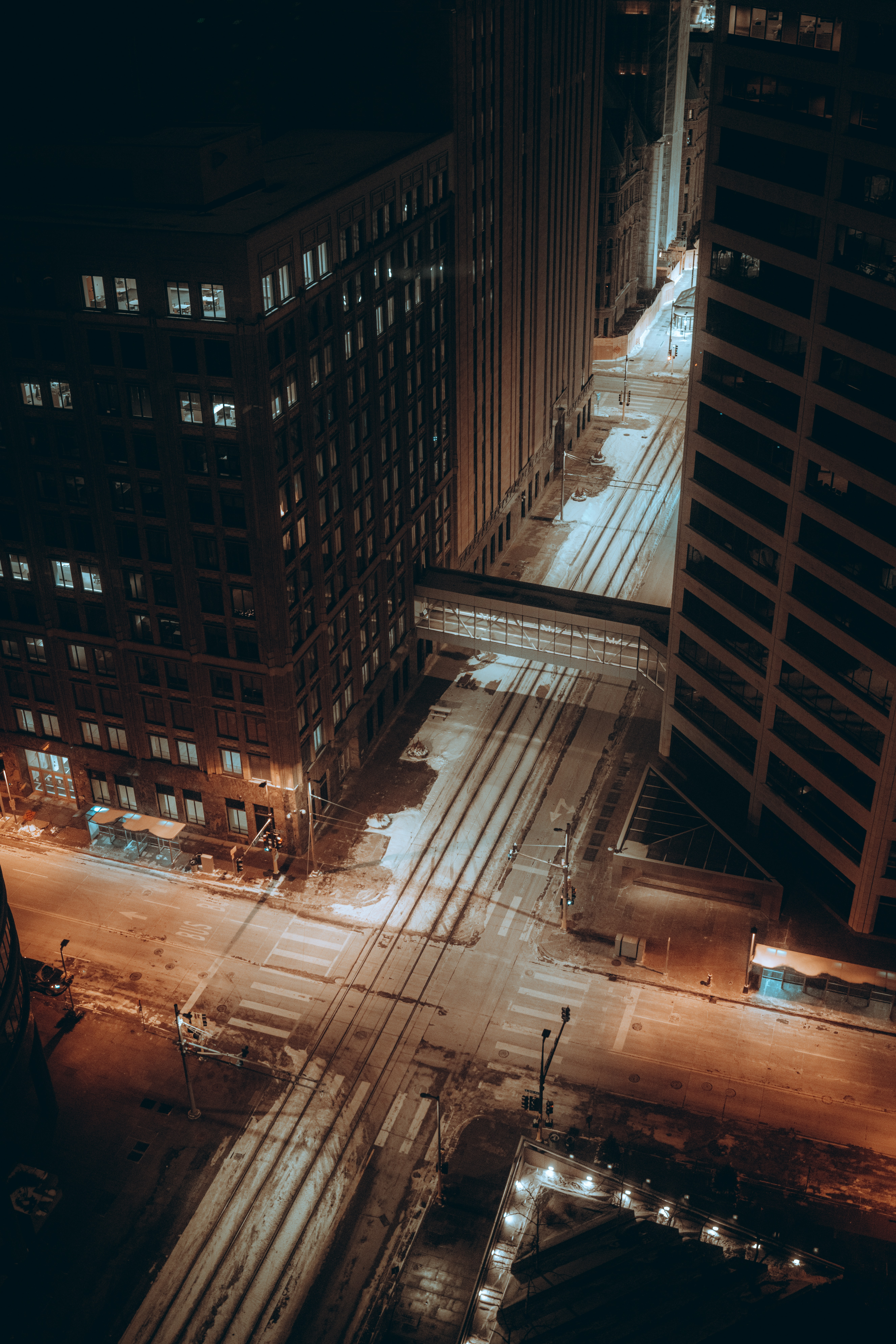 155430 Screensavers and Wallpapers Roads for phone. Download Cities, Roads, Streets, Night, City, Building, View From Above pictures for free