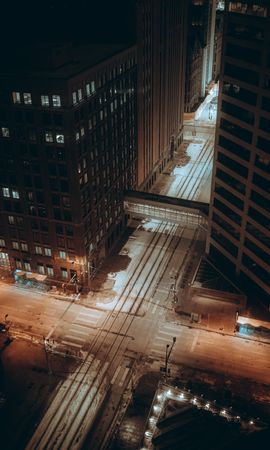 155430 Screensavers and Wallpapers Roads for phone. Download City, Streets, View From Above, Building, Roads, Night, Cities pictures for free