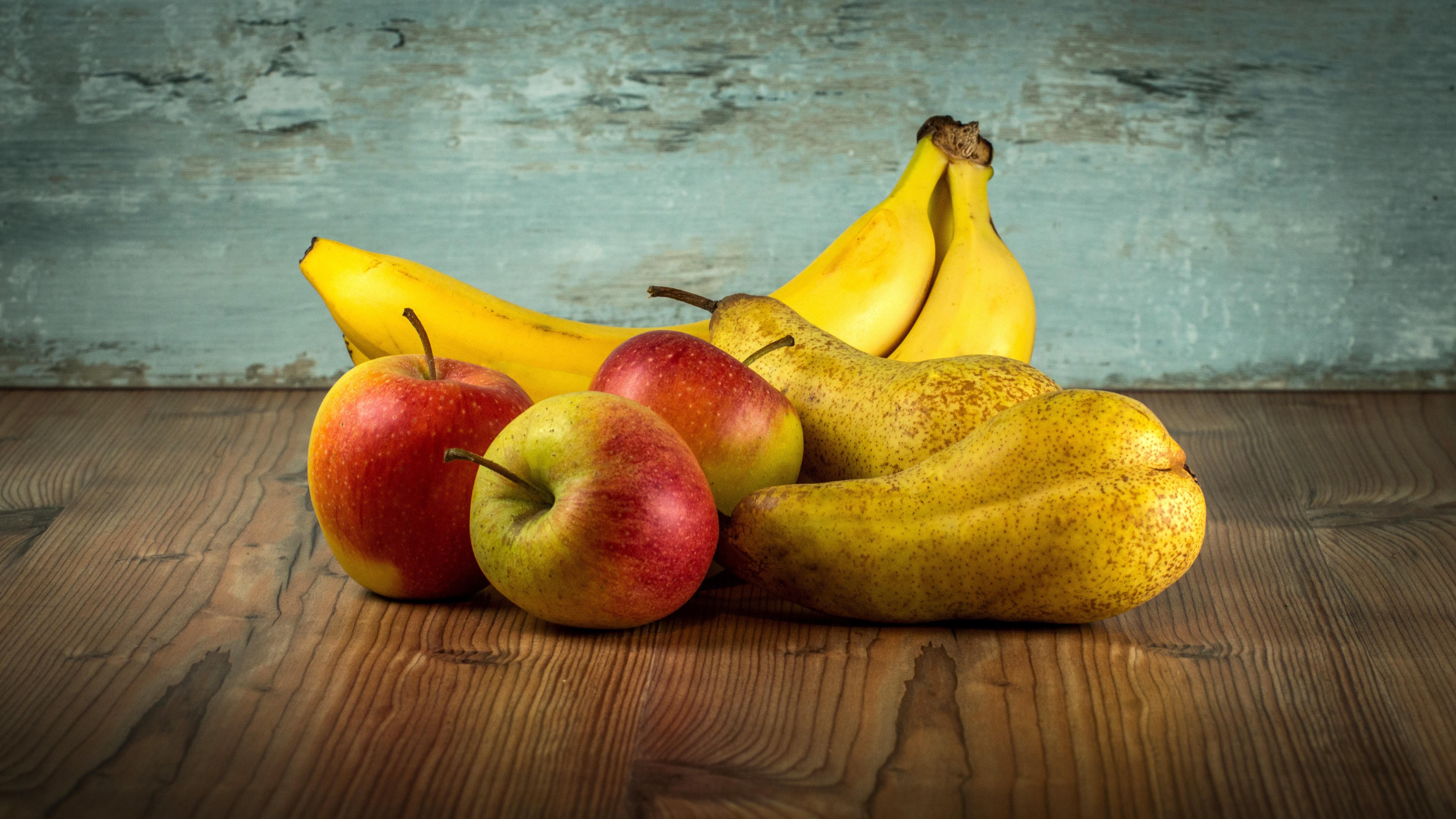 53287 скачать обои Бананы, Фрукты, Еда, Яблоки, Груши - заставки и картинки бесплатно