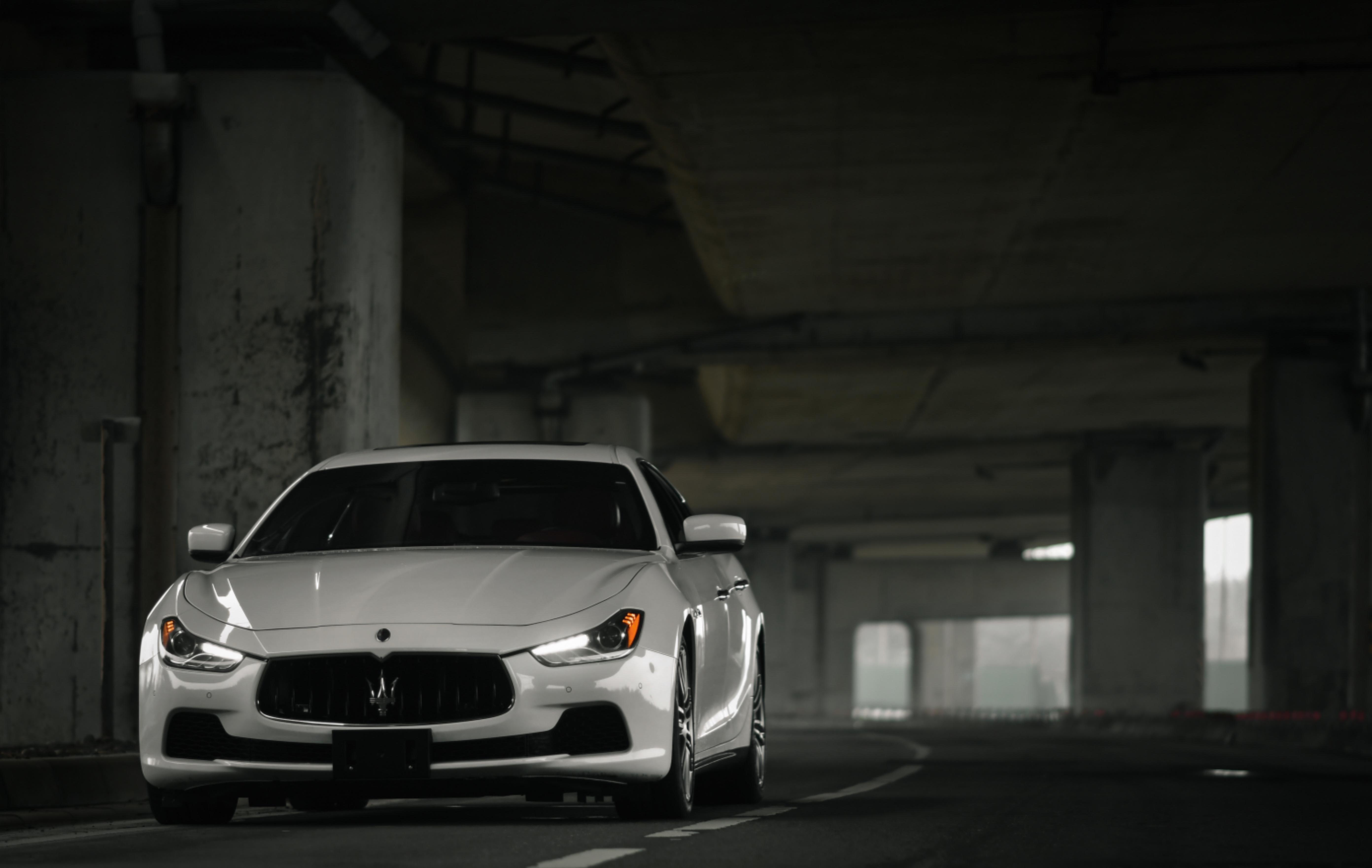107151 Hintergrundbild herunterladen Maserati, Cars, Der Verkehr, Bewegung, Vorderansicht, Frontansicht, Maserati Ghibli - Bildschirmschoner und Bilder kostenlos