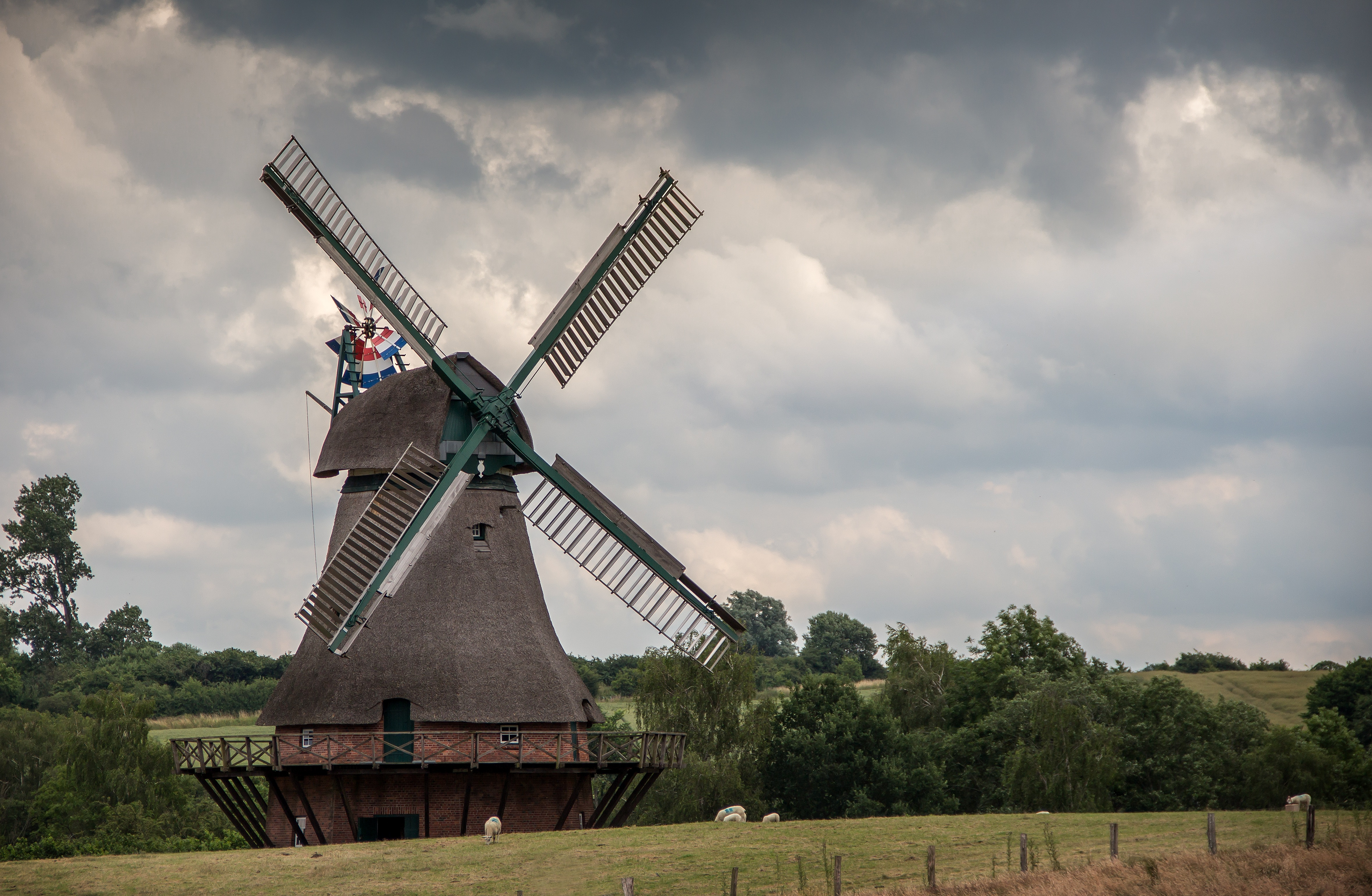 144469 Screensavers and Wallpapers Agriculture for phone. Download Nature, Sky, Windmill, Agriculture pictures for free
