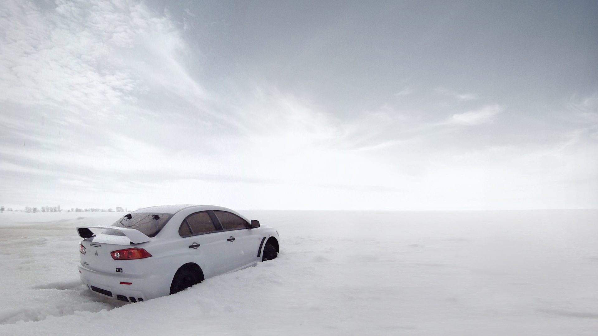 32898 download wallpaper Auto, Mitsubishi, Snow screensavers and pictures for free