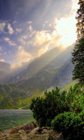 36539 скачать обои Пейзаж, Река, Горы - заставки и картинки бесплатно