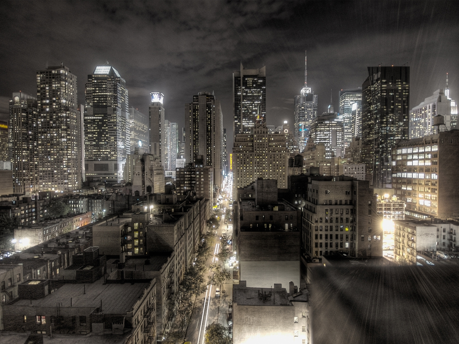 2440 download wallpaper Landscape, Cities, Art, Streets, Night, Architecture screensavers and pictures for free