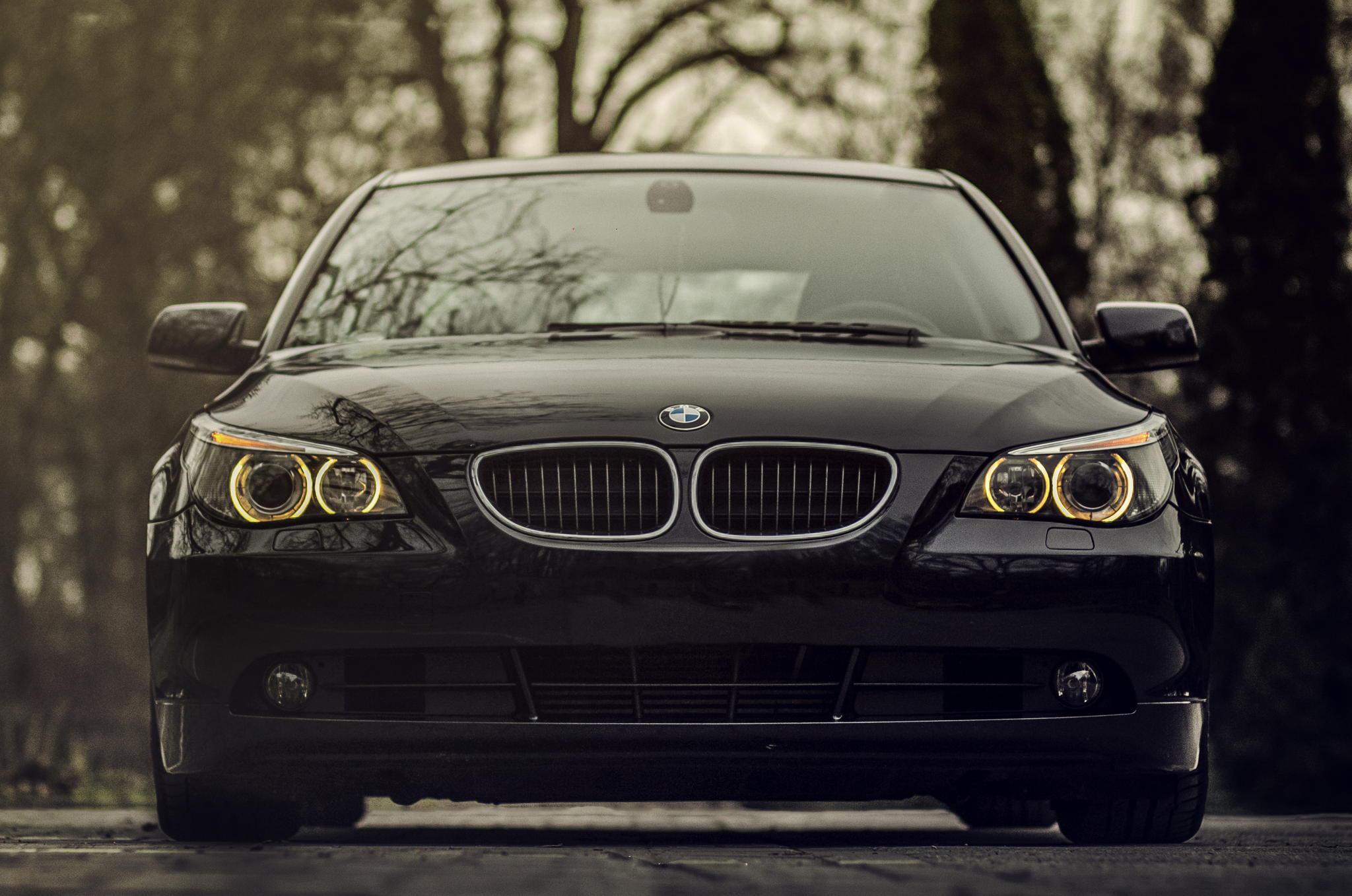 115083 скачать обои Тачки (Cars), Бмв (Bmw), 520D, Черный, Вид Спереди, Передний Бампер - заставки и картинки бесплатно