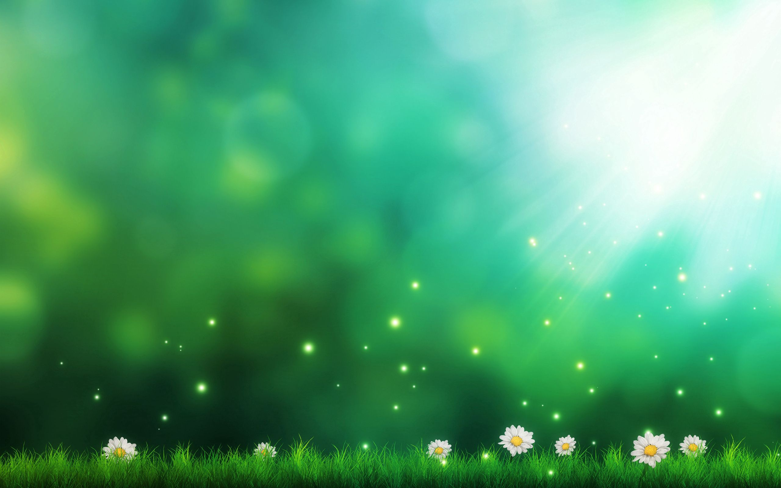 72187 download wallpaper Light, Miscellanea, Grass, Art, Camomile, Lights, Shine, Miscellaneous screensavers and pictures for free