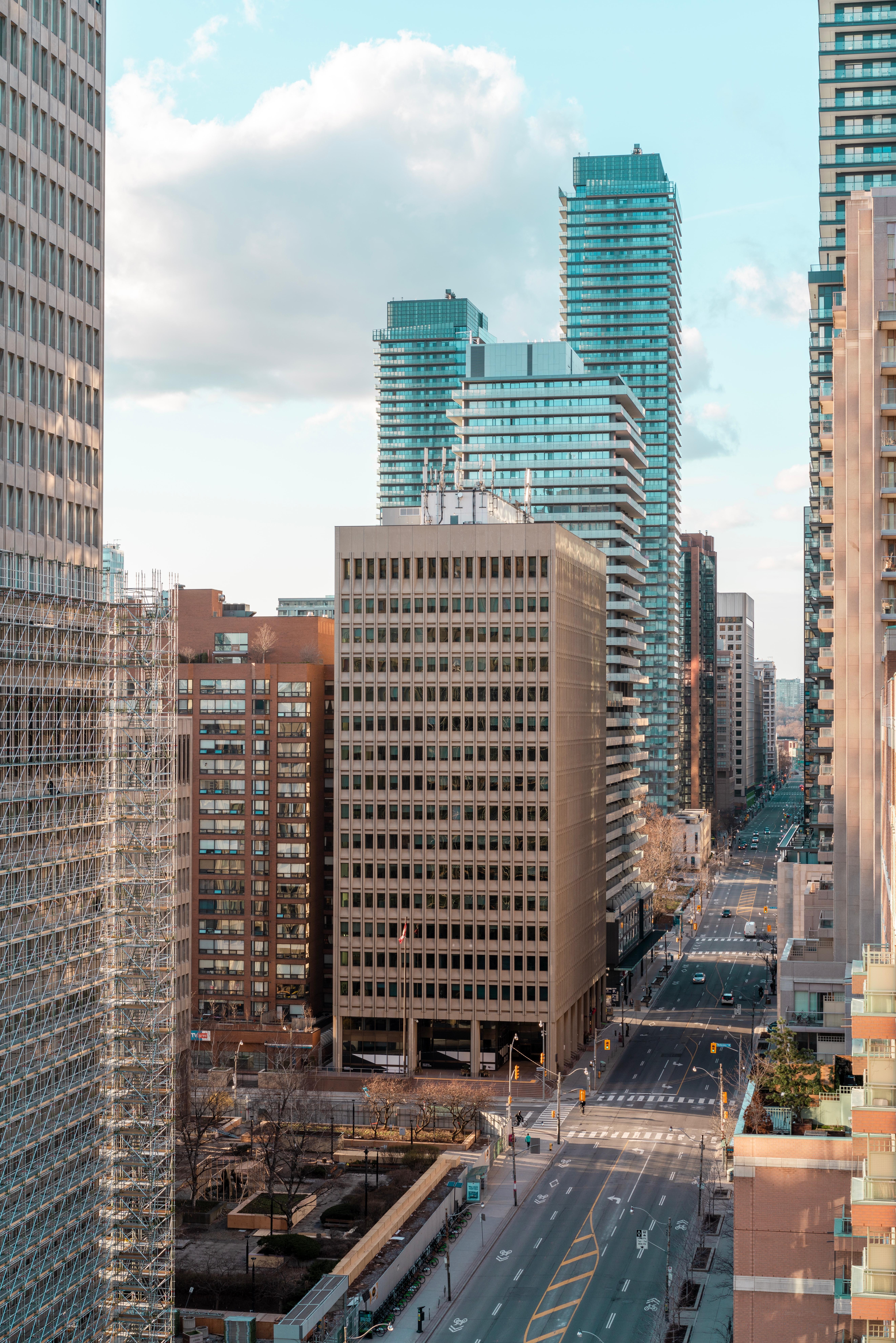 83676壁紙のダウンロード市, 都市, 高層ビル, 高 層 ビル, 建物, 道路, 道, アーキテクチャ-スクリーンセーバーと写真を無料で