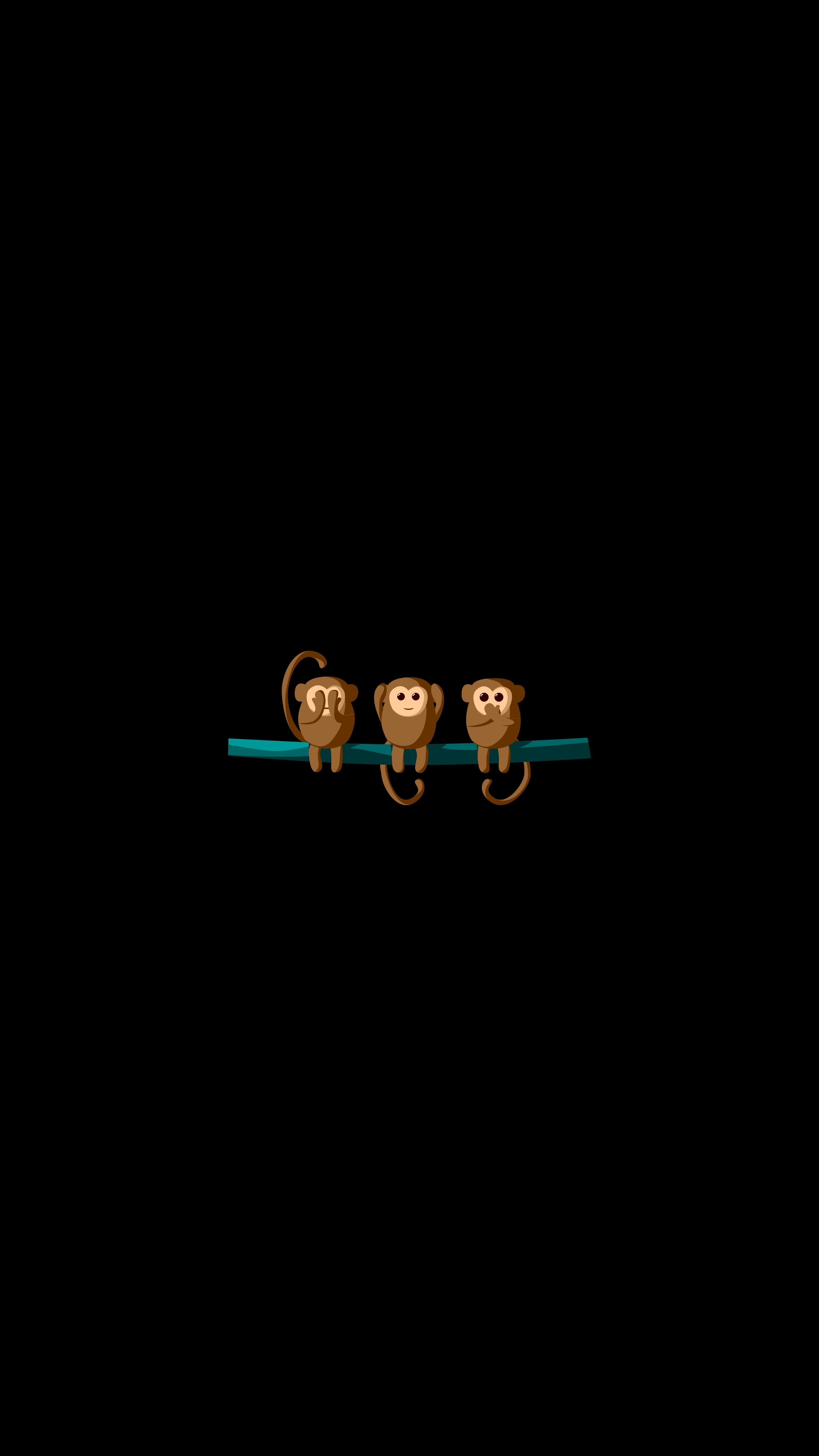 83709 Screensavers and Wallpapers Monkeys for phone. Download Art, Monkeys, Vector, Branch pictures for free