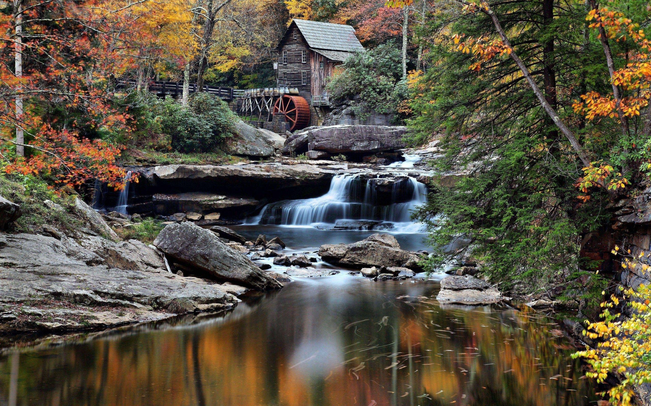 52920 скачать обои Природа, Здание, Река, Течение, Деревья - заставки и картинки бесплатно
