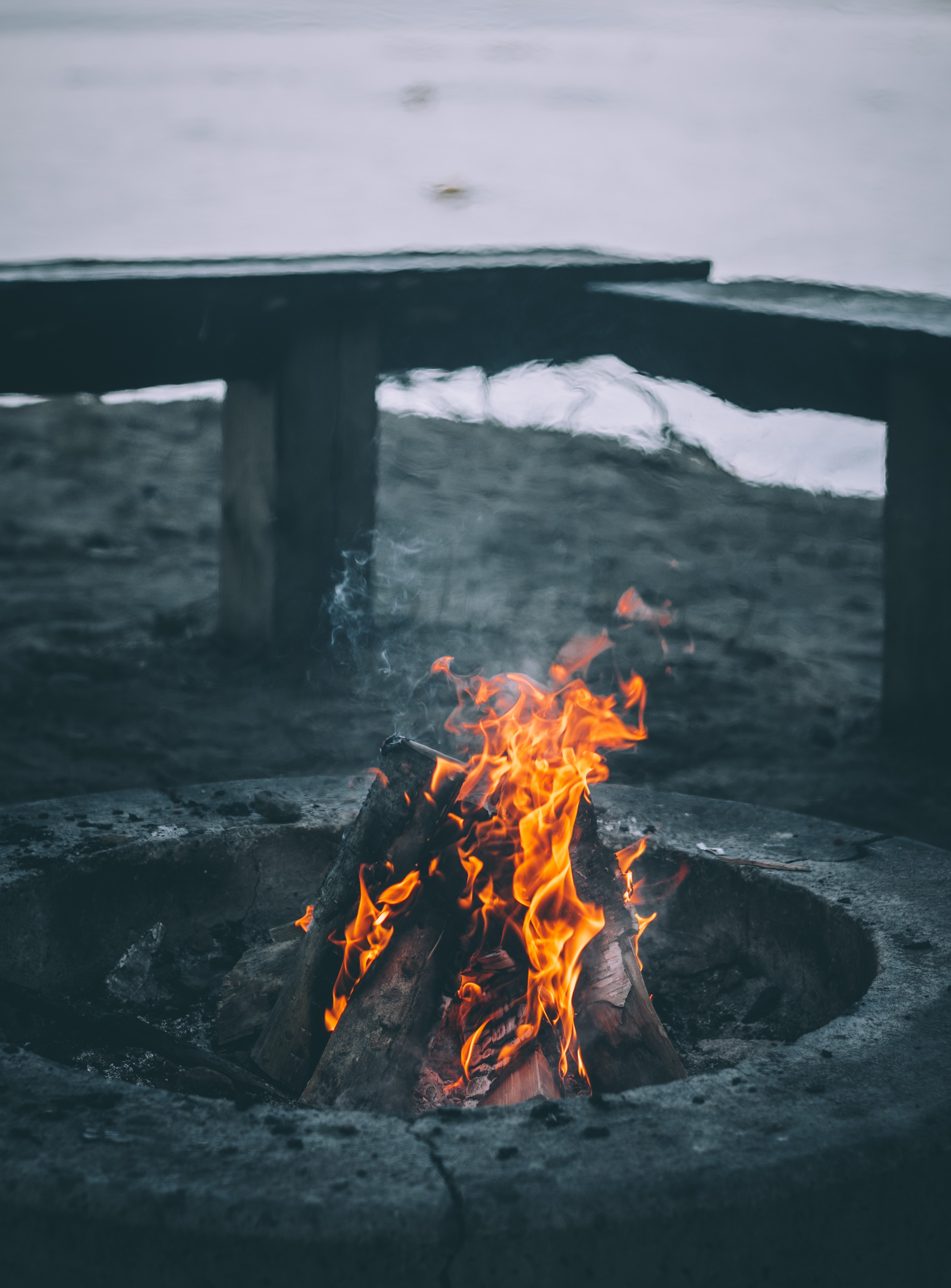 121275 Screensavers and Wallpapers Bonfire for phone. Download Fire, Smoke, Bonfire, Flame, Miscellanea, Miscellaneous, Firewood pictures for free