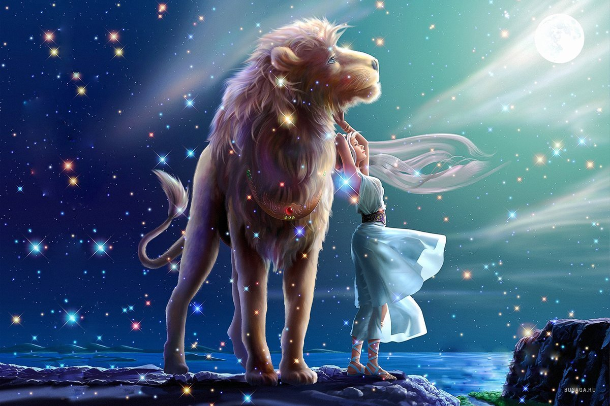 14410 download wallpaper Fantasy, Lions, Zodiac screensavers and pictures for free
