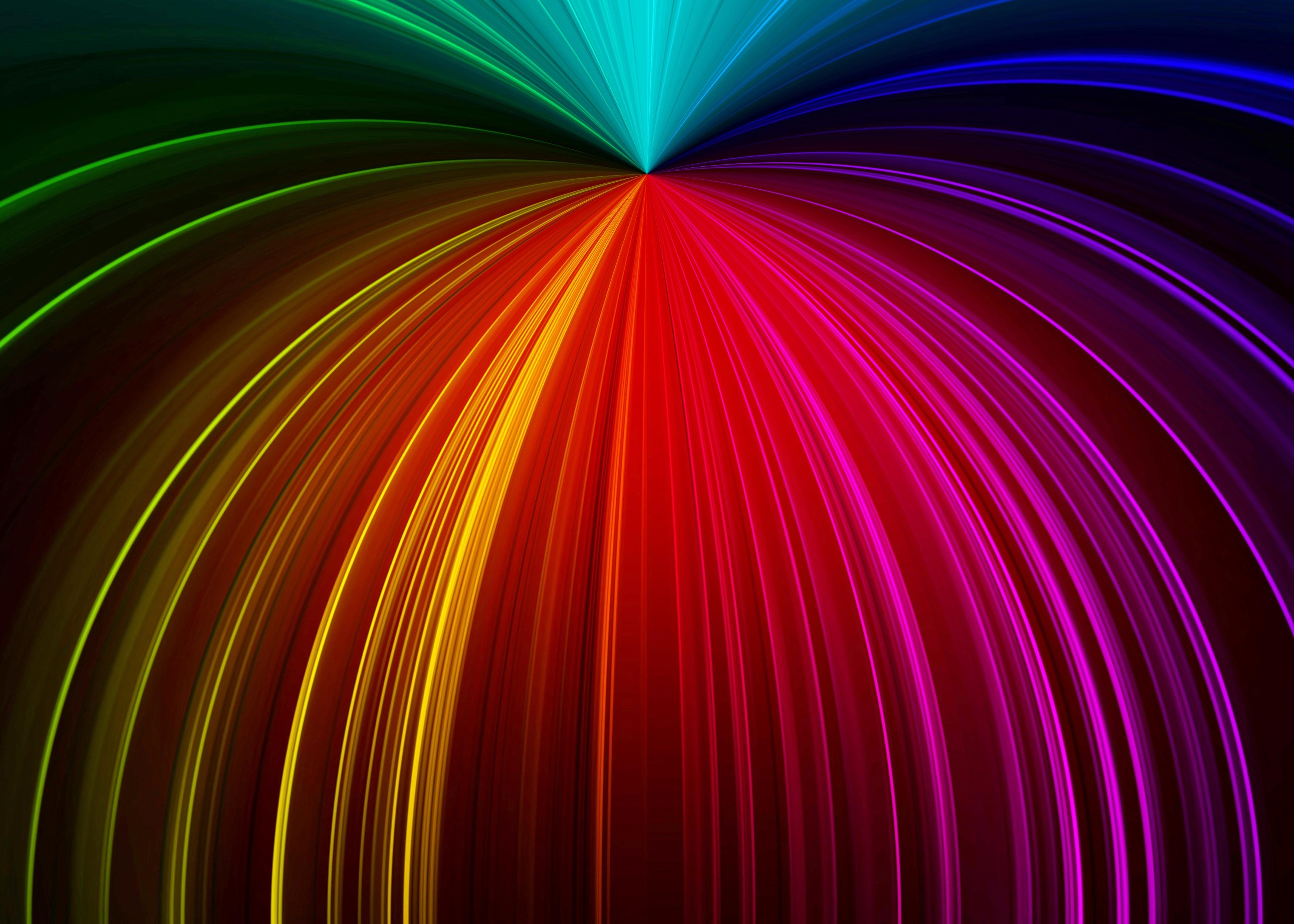 106840 завантажити шпалери Абстракція, Промені, Різнобарвний, Строката, Лінії, Блиск - заставки і картинки безкоштовно