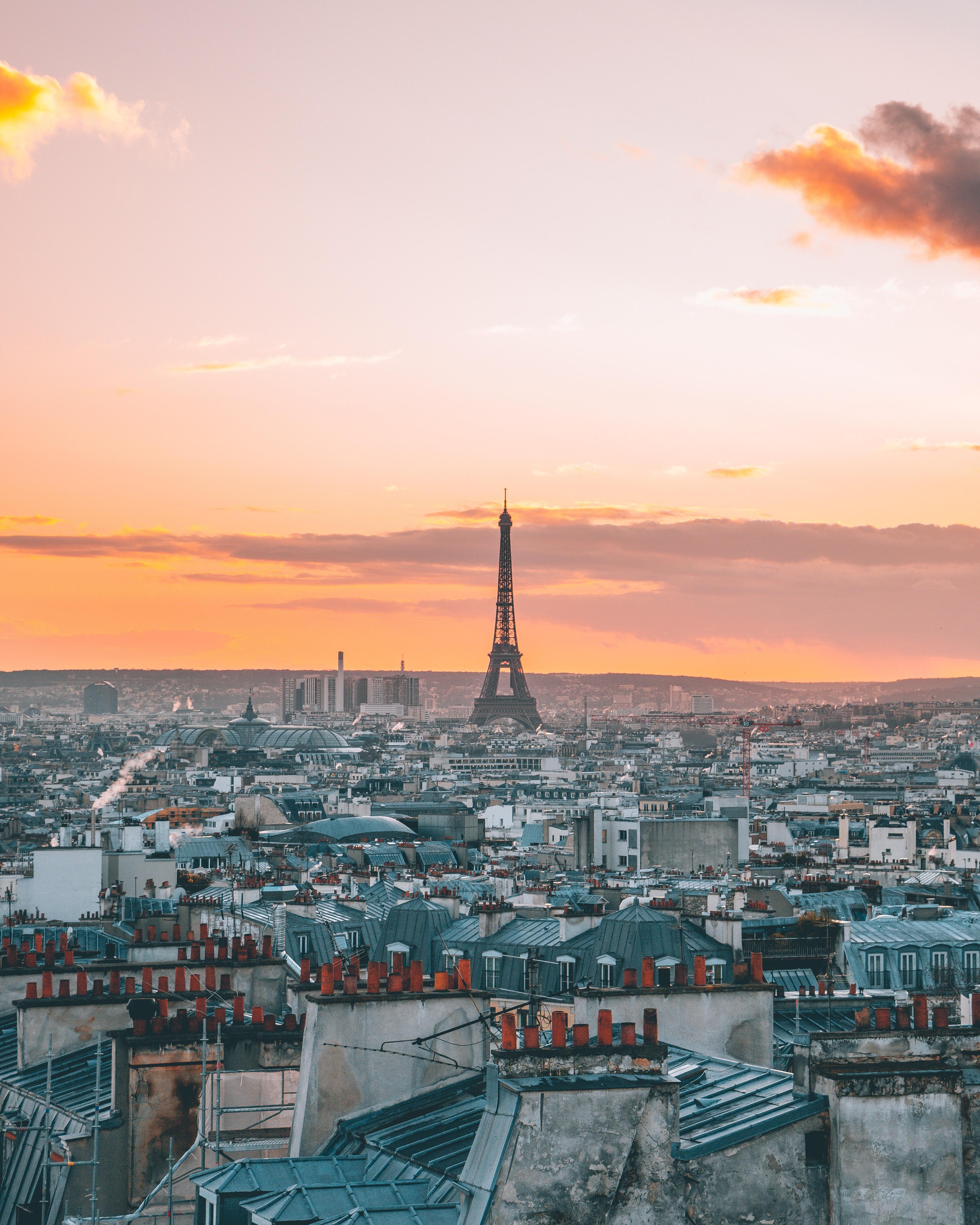 120693 télécharger le fond d'écran Ville, Coucher De Soleil, Vue D'en-Haut, Vue D'En Haut, Paris, France, Villes, Tour Eiffel - économiseurs d'écran et images gratuitement