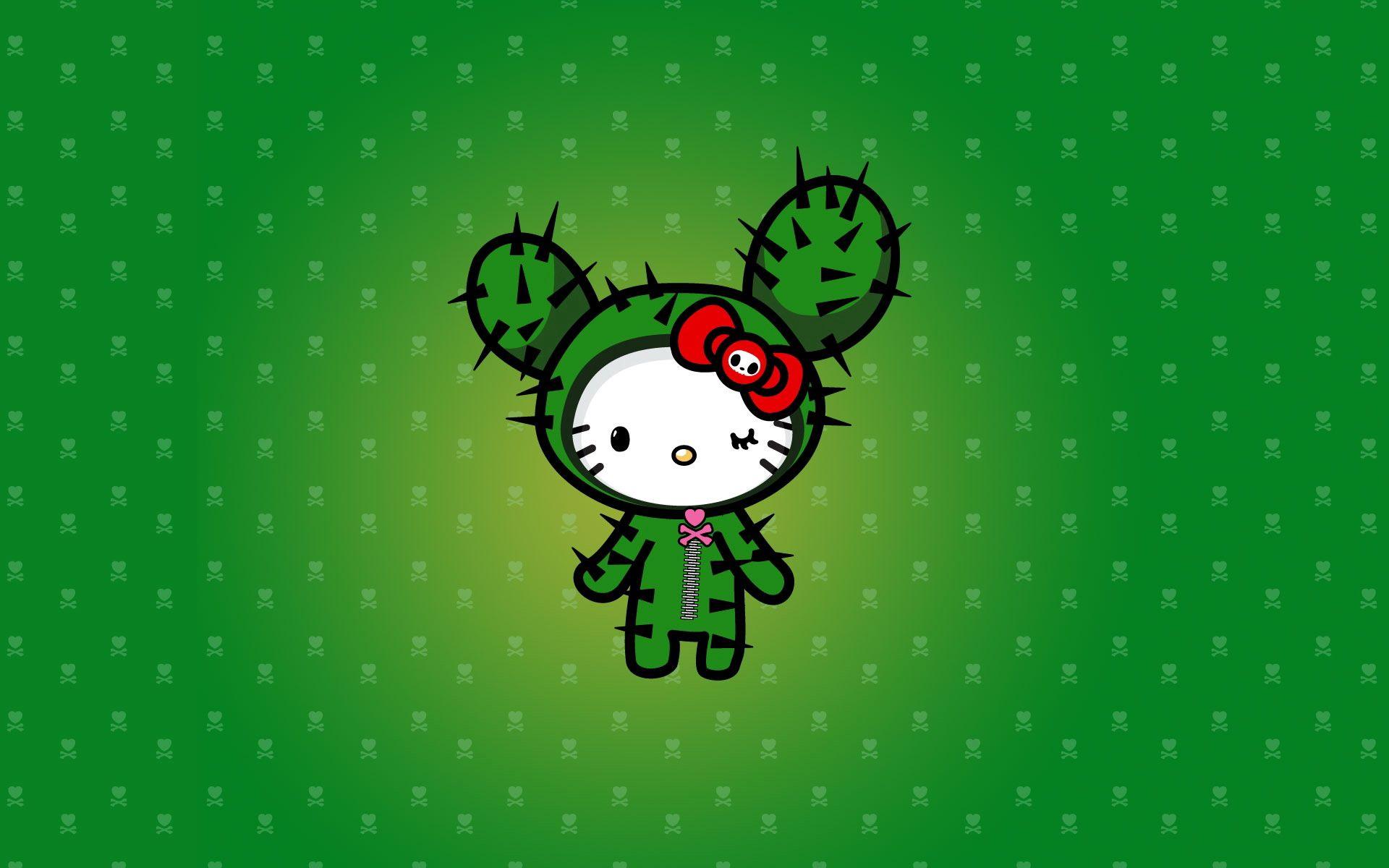 139730 descargar fondo de pantalla Vector, Gato, Gatito, Cactus, Cacto: protectores de pantalla e imágenes gratis