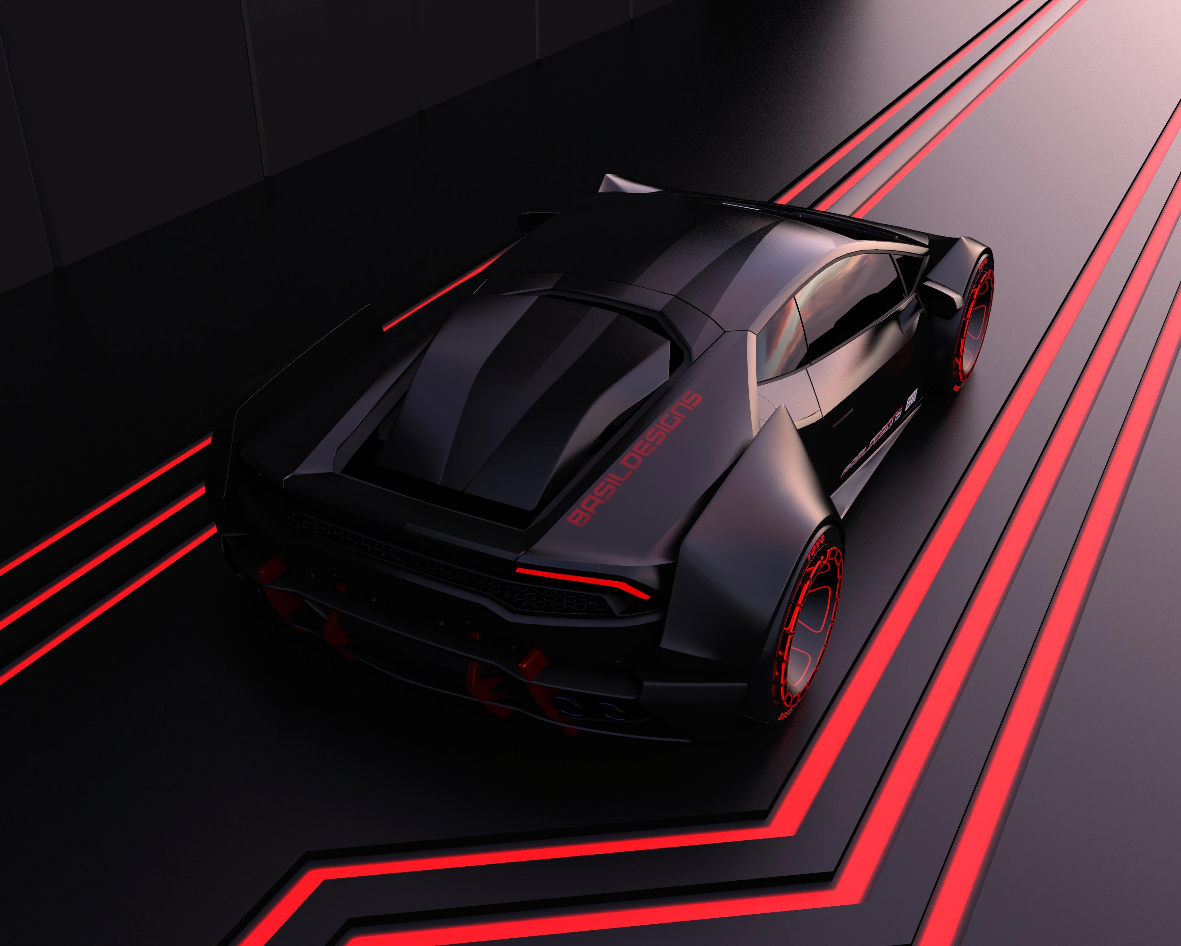 129569 скачать обои Тачки (Cars), Машины, Машина, Спортивный, Модель, Черный, Красный, Линии - заставки и картинки бесплатно