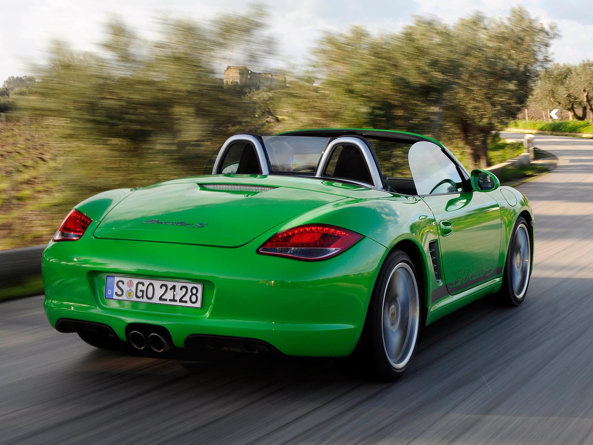 130454 Hintergrundbild 128x160 kostenlos auf deinem Handy, lade Bilder Porsche, Cars, Rückansicht, Geschwindigkeit, Cabriolet, Boxster, Boxster S 128x160 auf dein Handy herunter