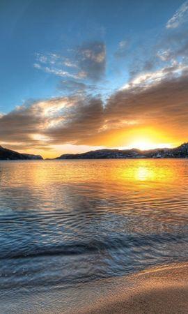20843 скачать обои Пейзаж, Закат, Море, Облака - заставки и картинки бесплатно