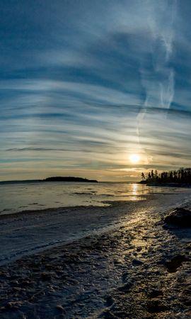 156382 скачать обои Природа, Пляж, Горизонт, Солнце, Пейзаж - заставки и картинки бесплатно