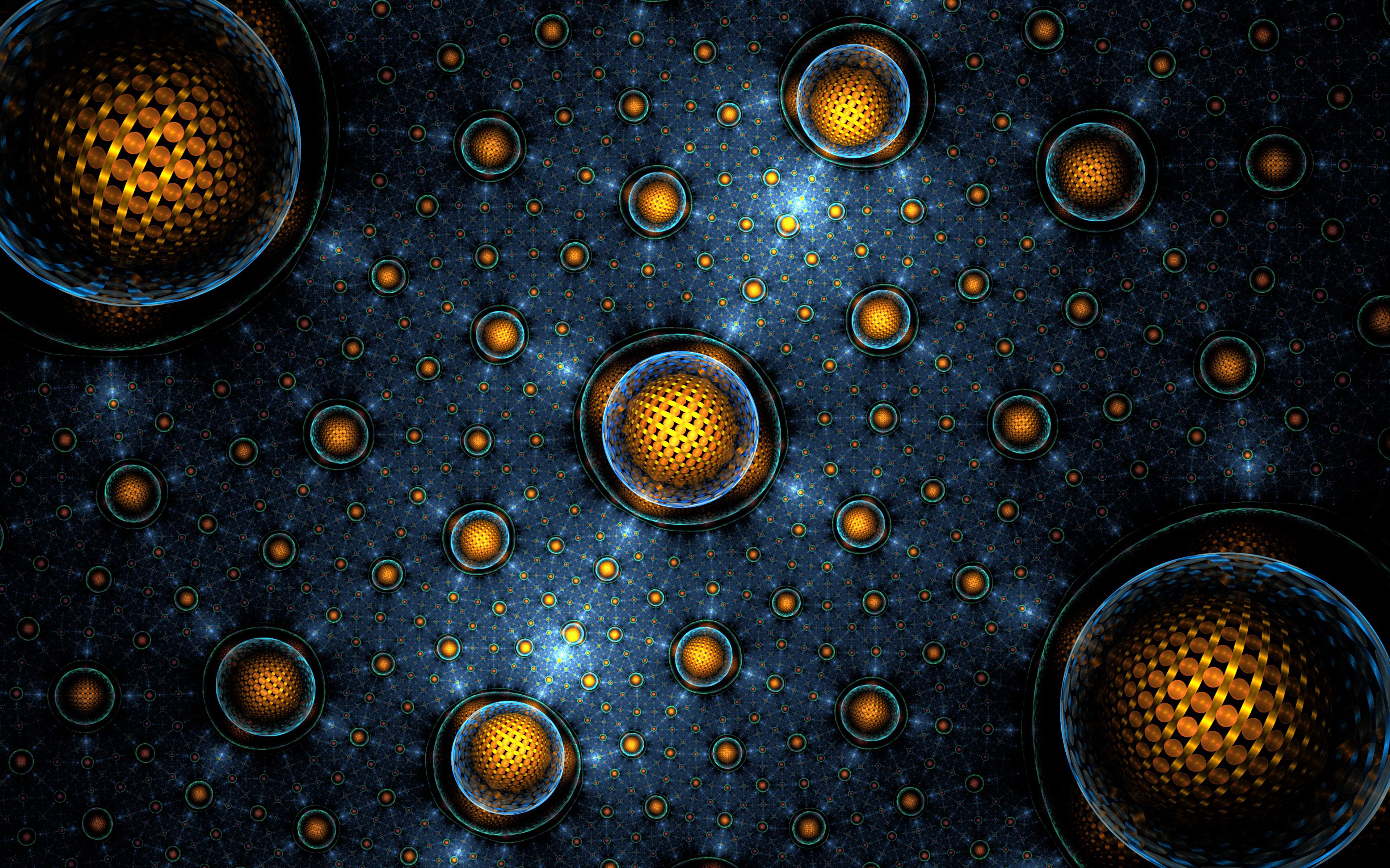 117666 download wallpaper Abstract, Fractal, Balls, Spheres, Sphere, Glow, Grid screensavers and pictures for free
