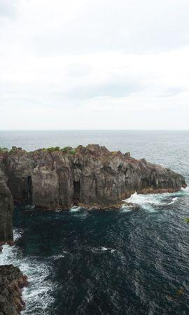 21547 скачать обои Пейзаж, Горы, Море, Волны - заставки и картинки бесплатно
