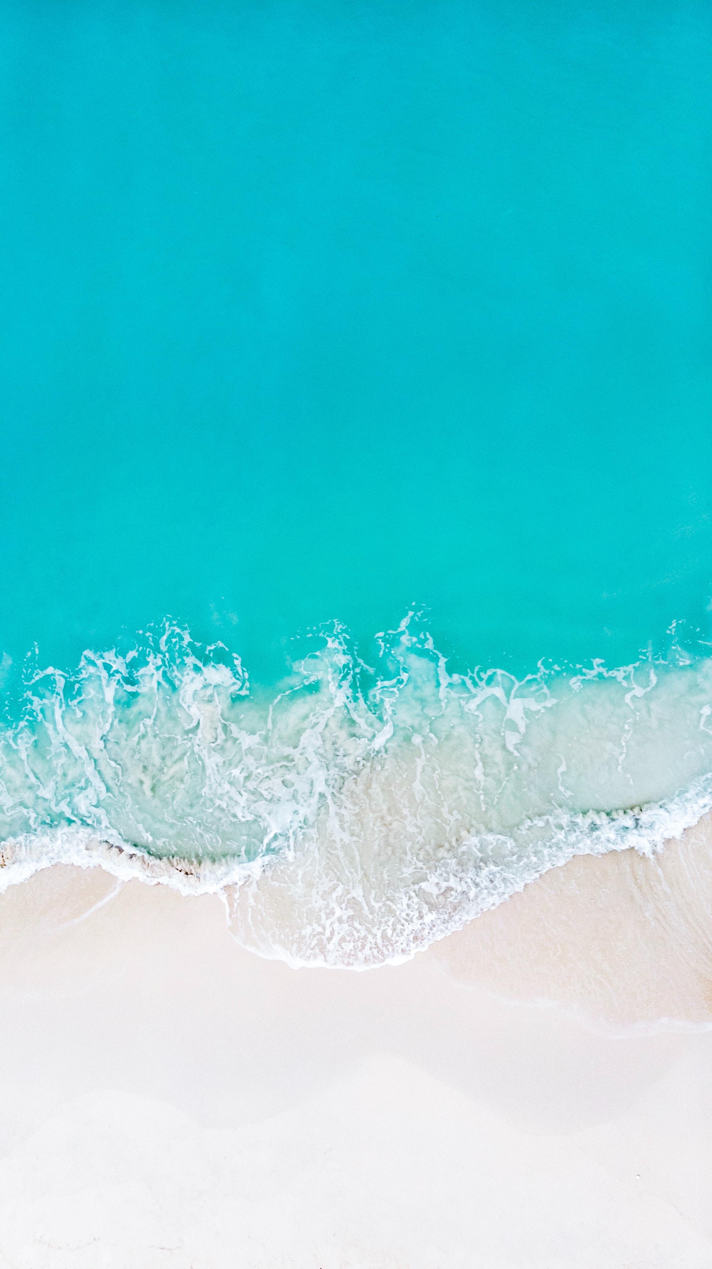 55616 免費下載壁紙 性质, 海浪, 波浪, 海滩, 从上面看, 顶视图, 海, 支撑, 海岸, 沙 屏保和圖片