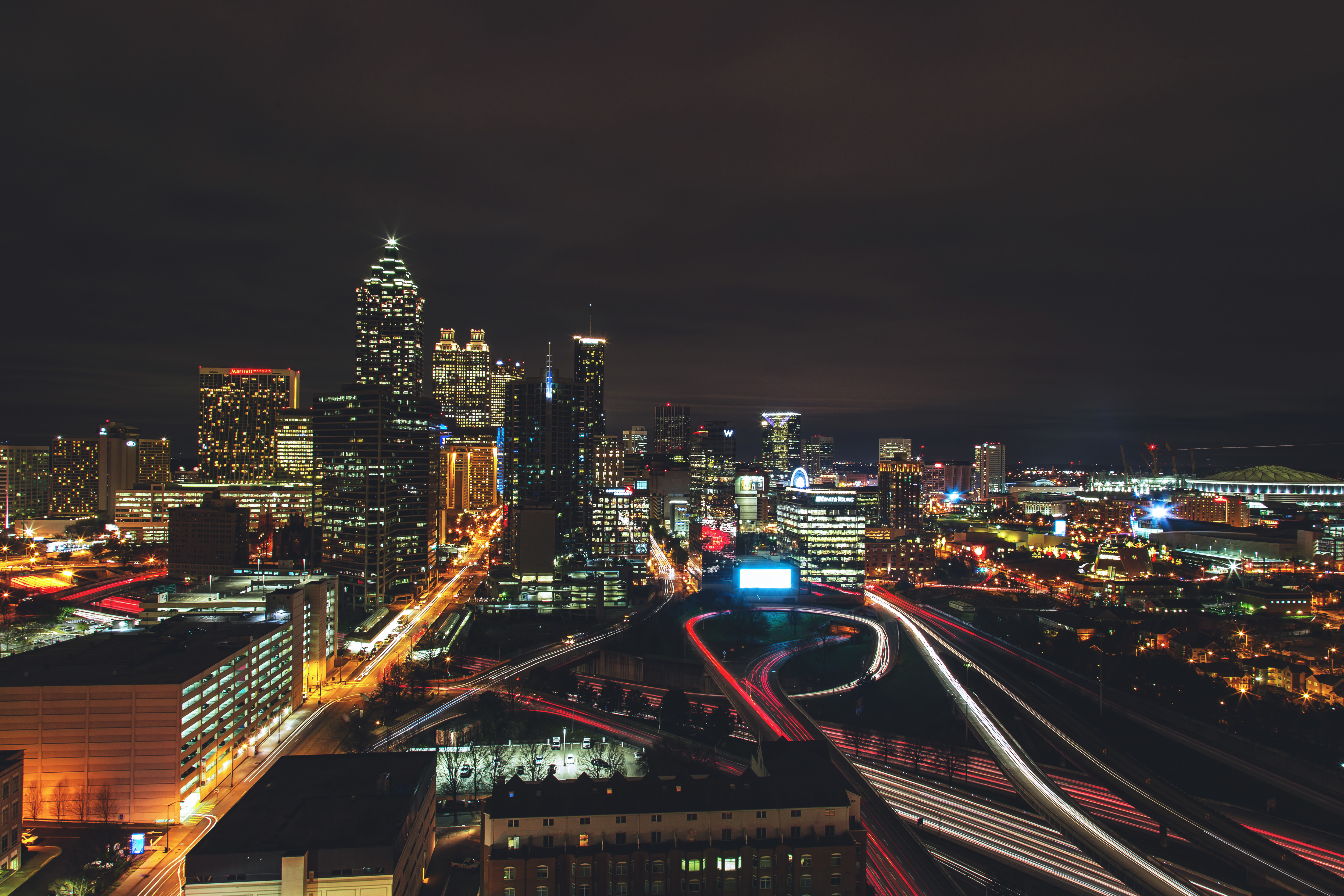 115817 download wallpaper Night City, City Lights, View From Above, Night, Architecture, Cities screensavers and pictures for free