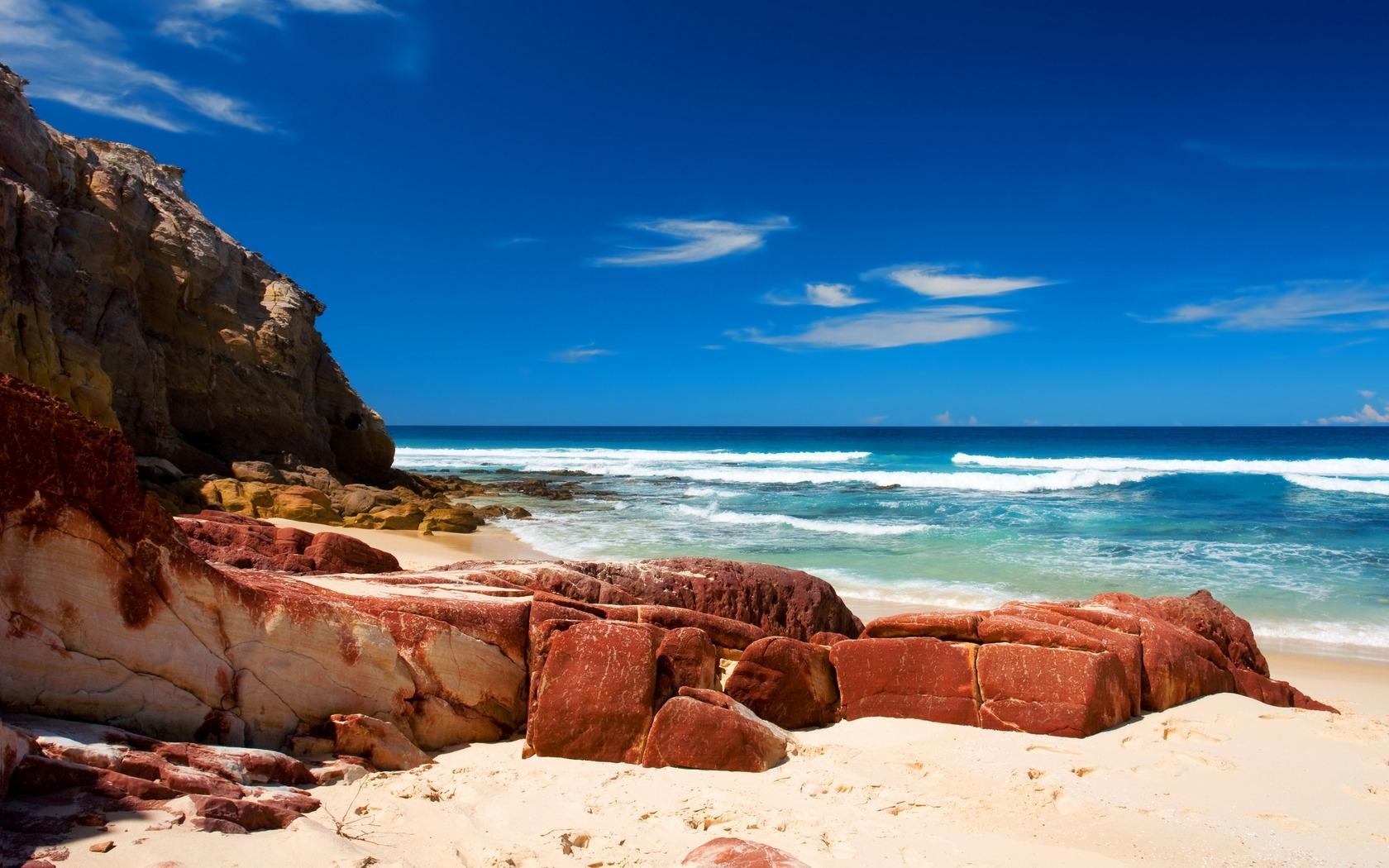 26364 免費下載壁紙 景观, 海, 海滩 屏保和圖片