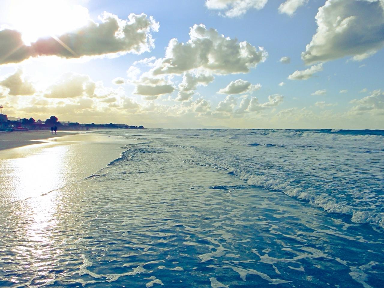15580 скачать обои Пейзаж, Вода, Небо, Море, Пляж - заставки и картинки бесплатно