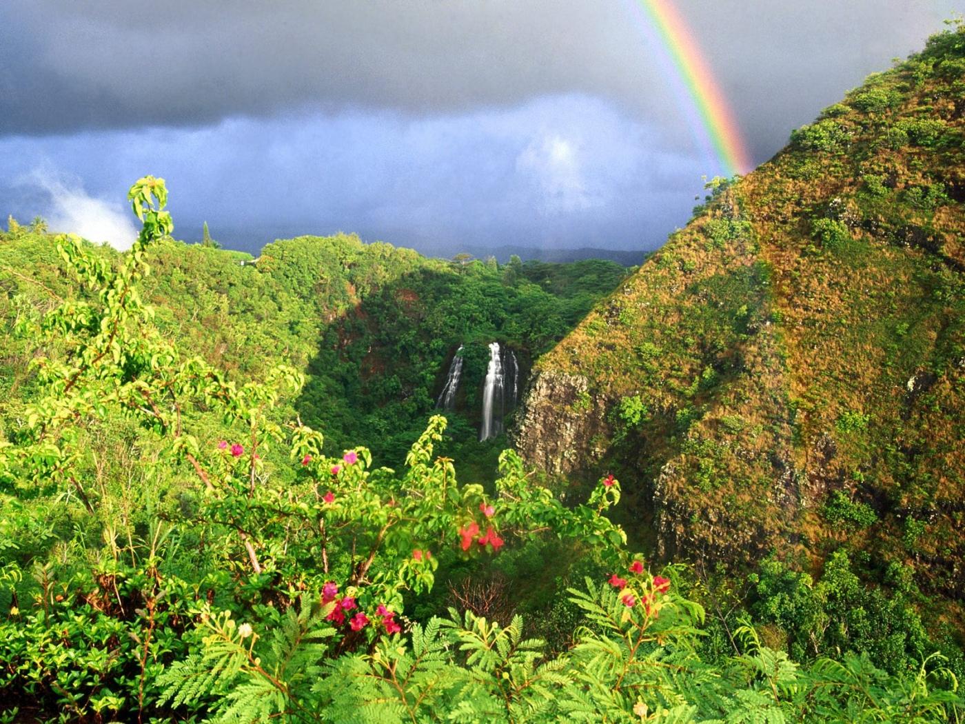 37348 免費下載壁紙 景观, 山, 彩虹 屏保和圖片