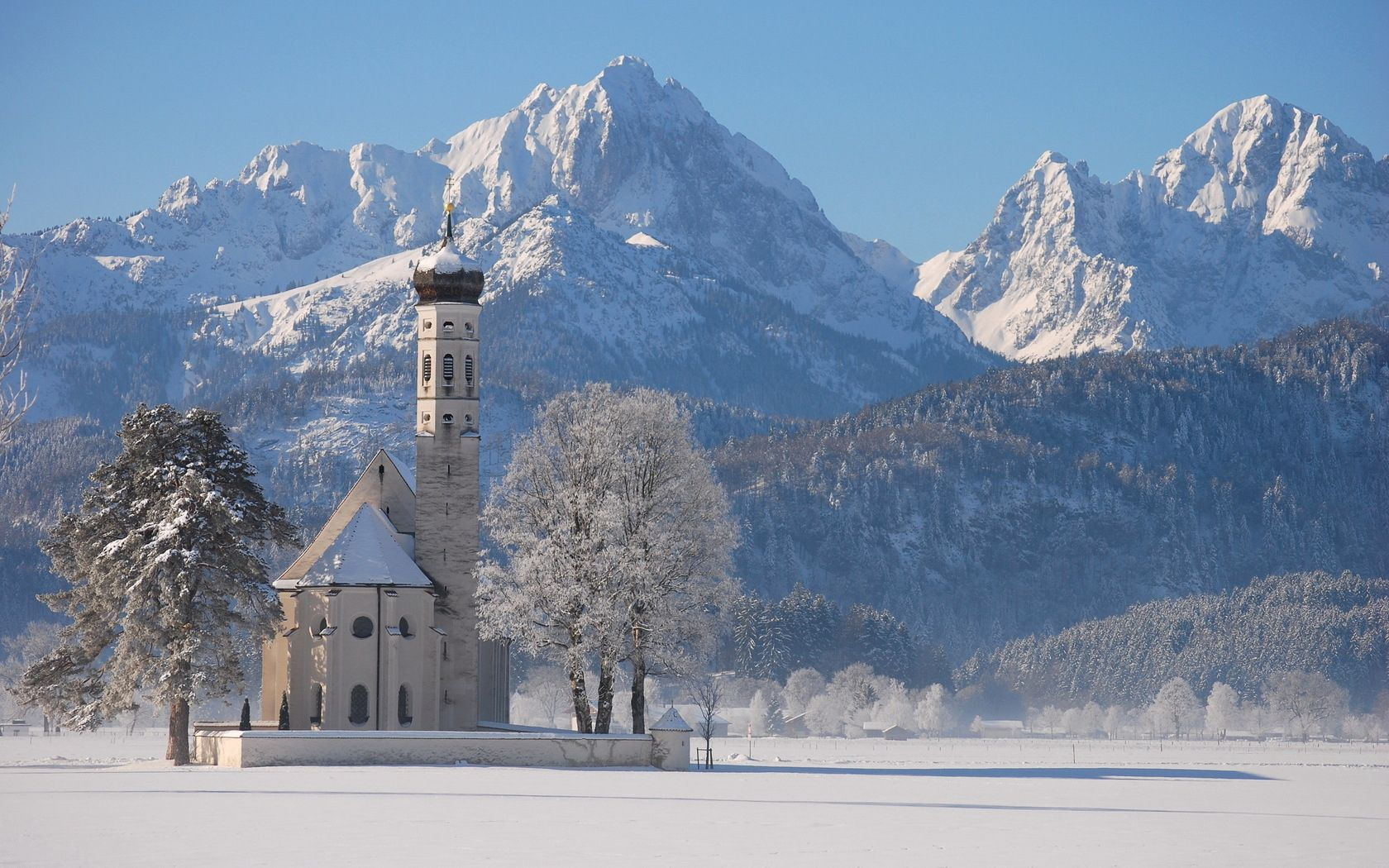 149669 download wallpaper Nature, Temple, Winter, Snow, Mountains screensavers and pictures for free