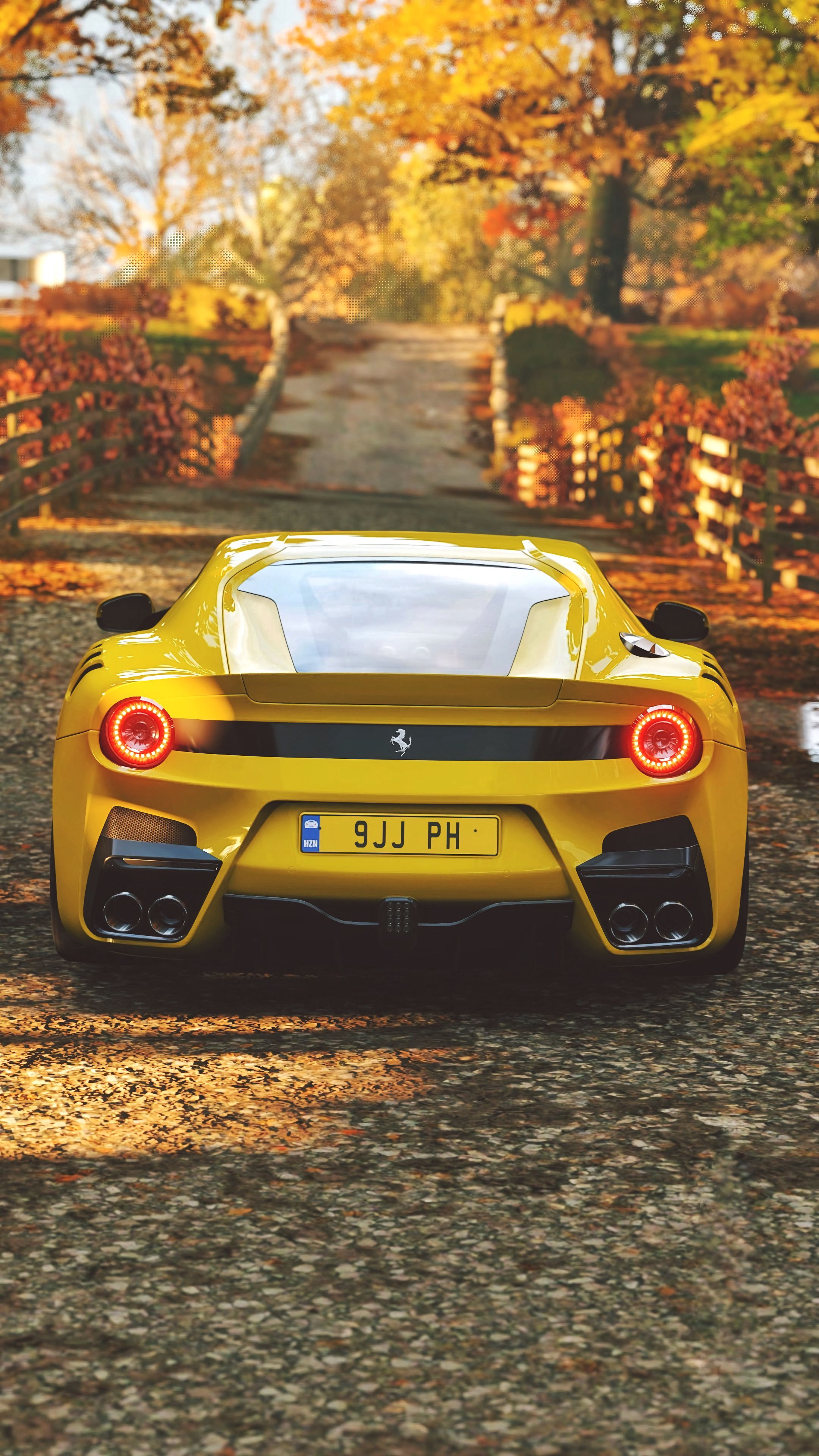 142737 download wallpaper Sports, Ferrari, Cars, Sports Car, Back View, Rear View screensavers and pictures for free