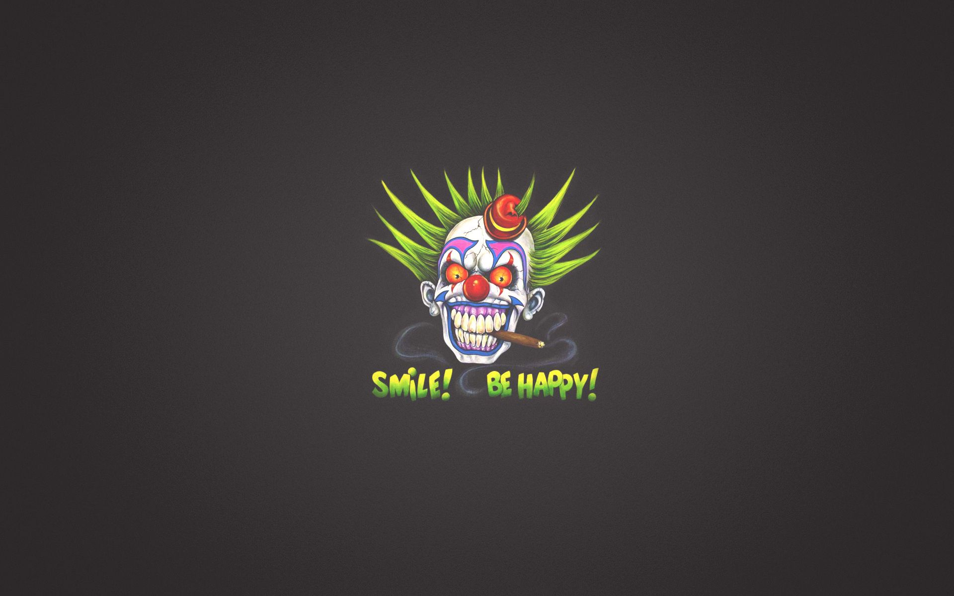 108324 Screensavers and Wallpapers Smile for phone. Download Smile, Art, Words, Inscription, Clown pictures for free