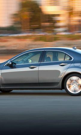 65634 скачать обои Тачки (Cars), Акура (Acura), Tsx, V6, 2009, Серый Металлик, Вид Сбоку, Стиль, Машины, Скорость, Дома, Город - заставки и картинки бесплатно