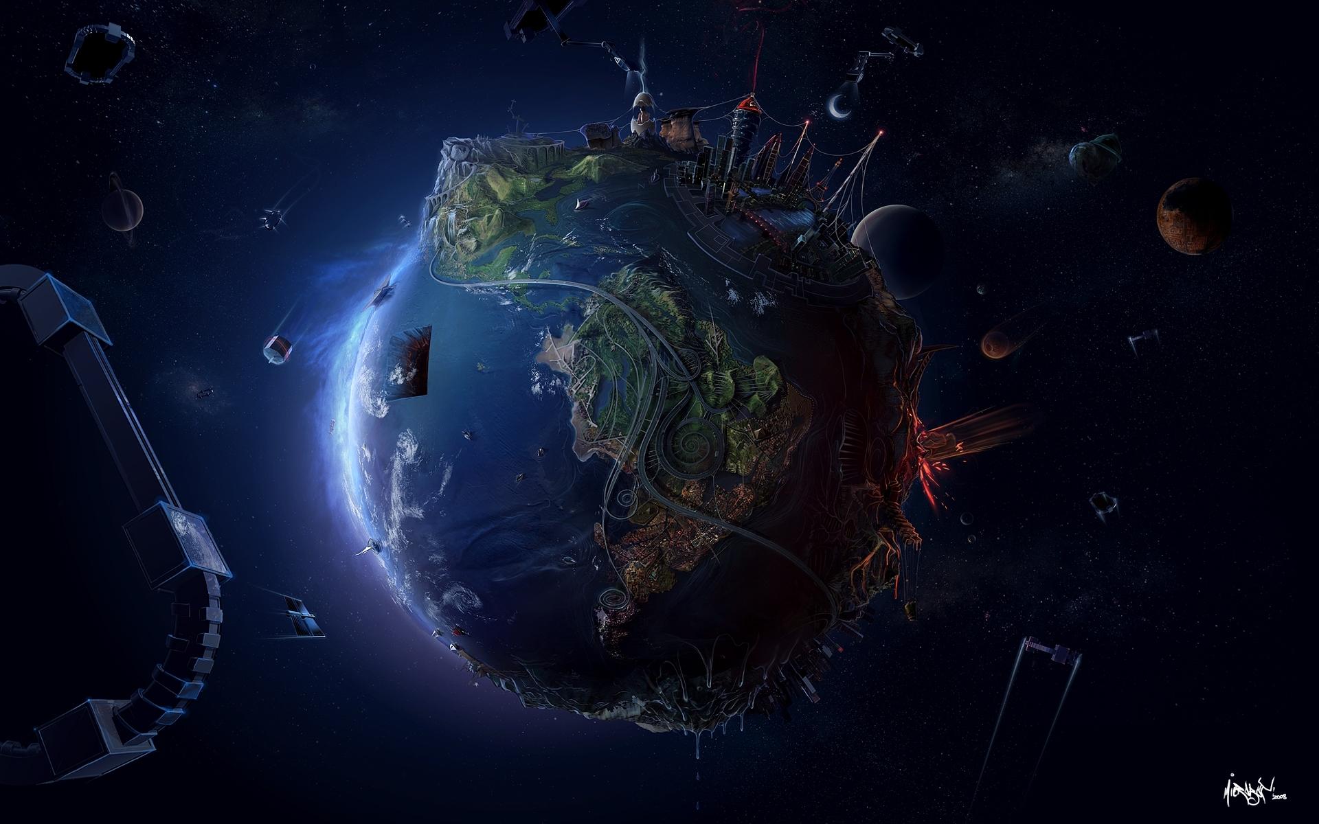 6747 скачать обои Фэнтези, Планеты, Космос - заставки и картинки бесплатно